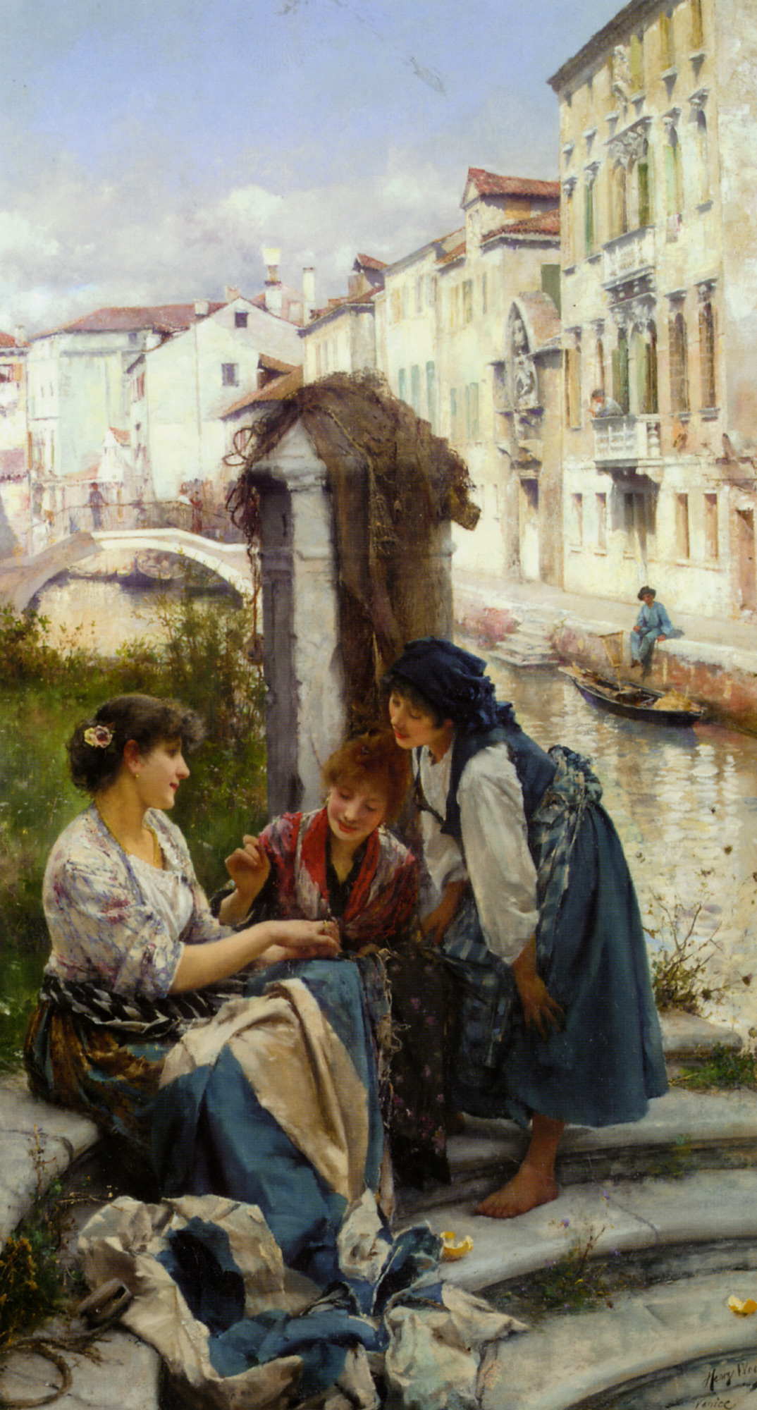 The Betrothed :: Henry Woods - Romantic scenes in art and painting ôîòî