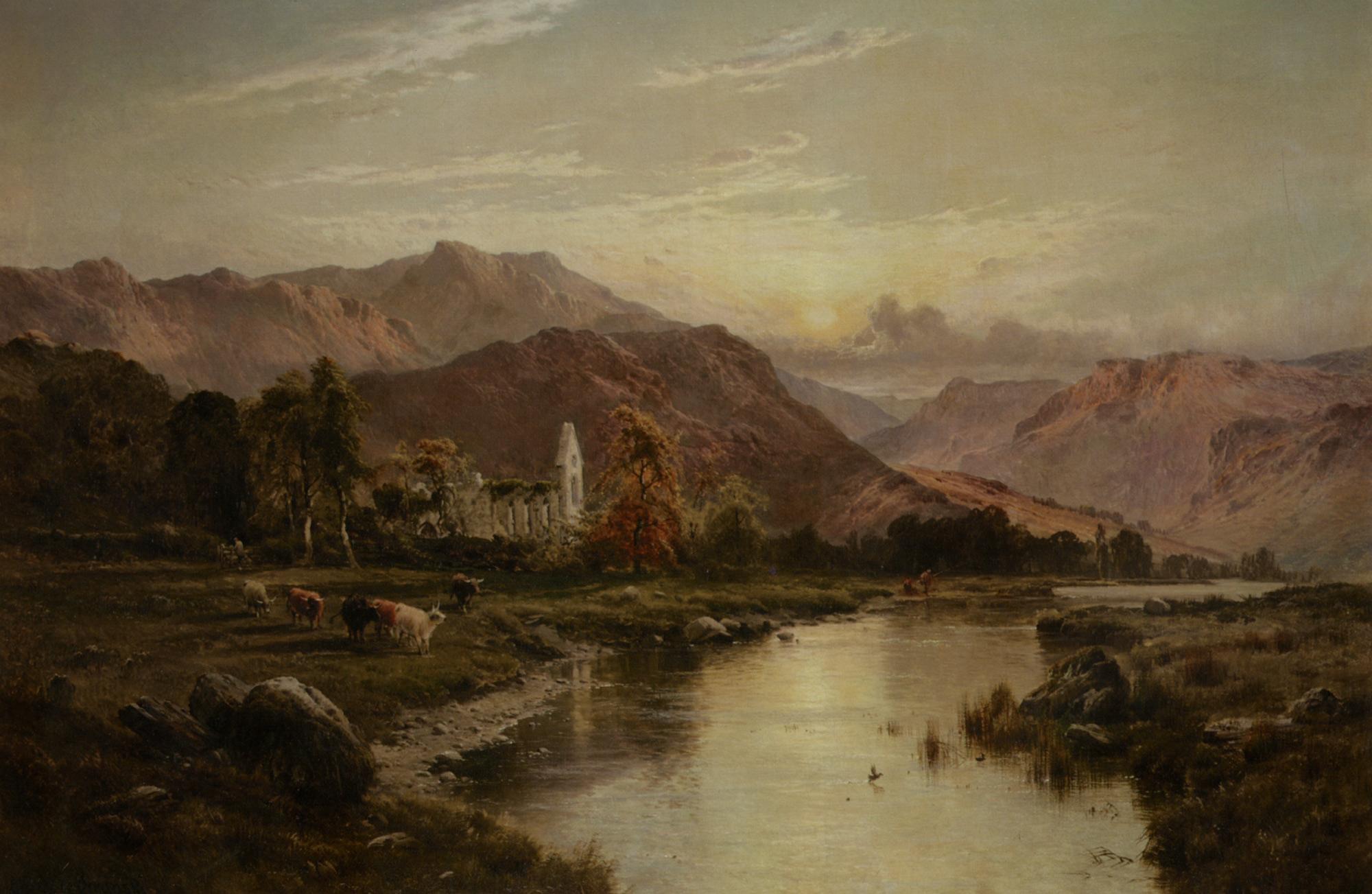 Vale of Llangollen North Wales :: Alfred Fontville De Breanski - Mountain scenery ôîòî