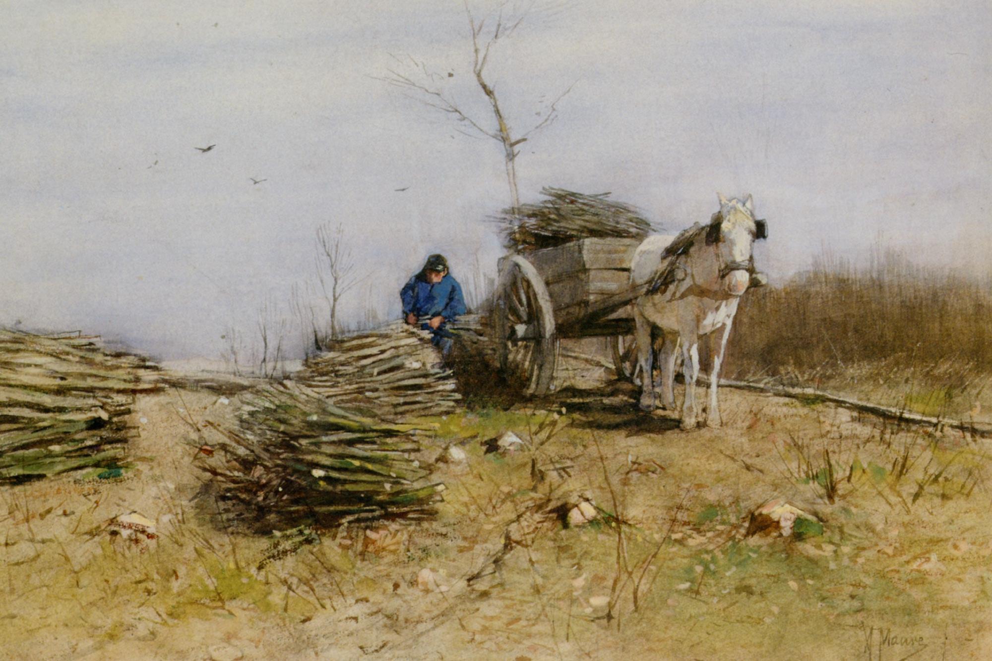 The Wood Gatherer :: Anton Mauve - Village life ôîòî