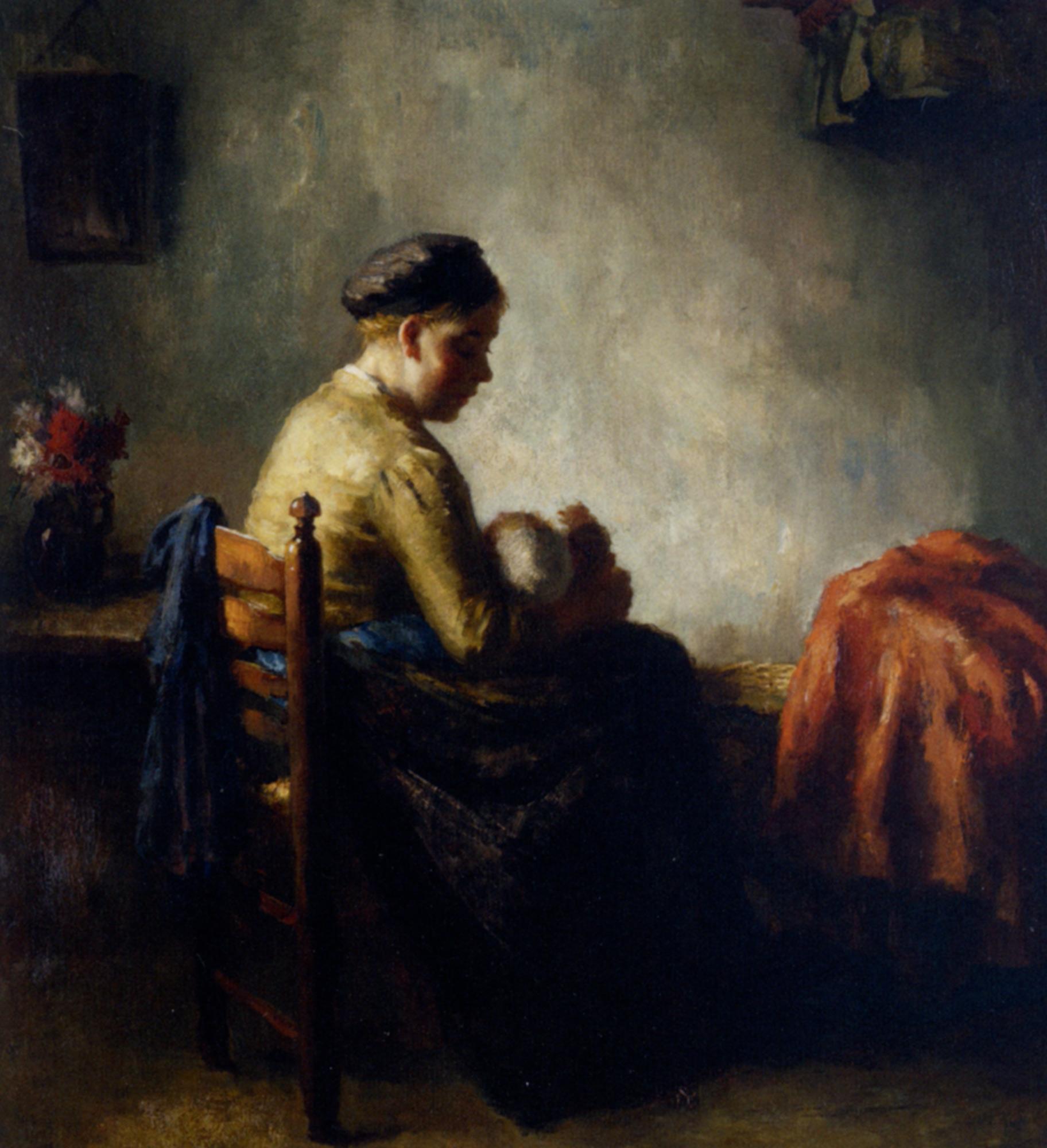 Rock a Bye Baby :: Bernard de Hoog - Woman and child in painting and art ôîòî