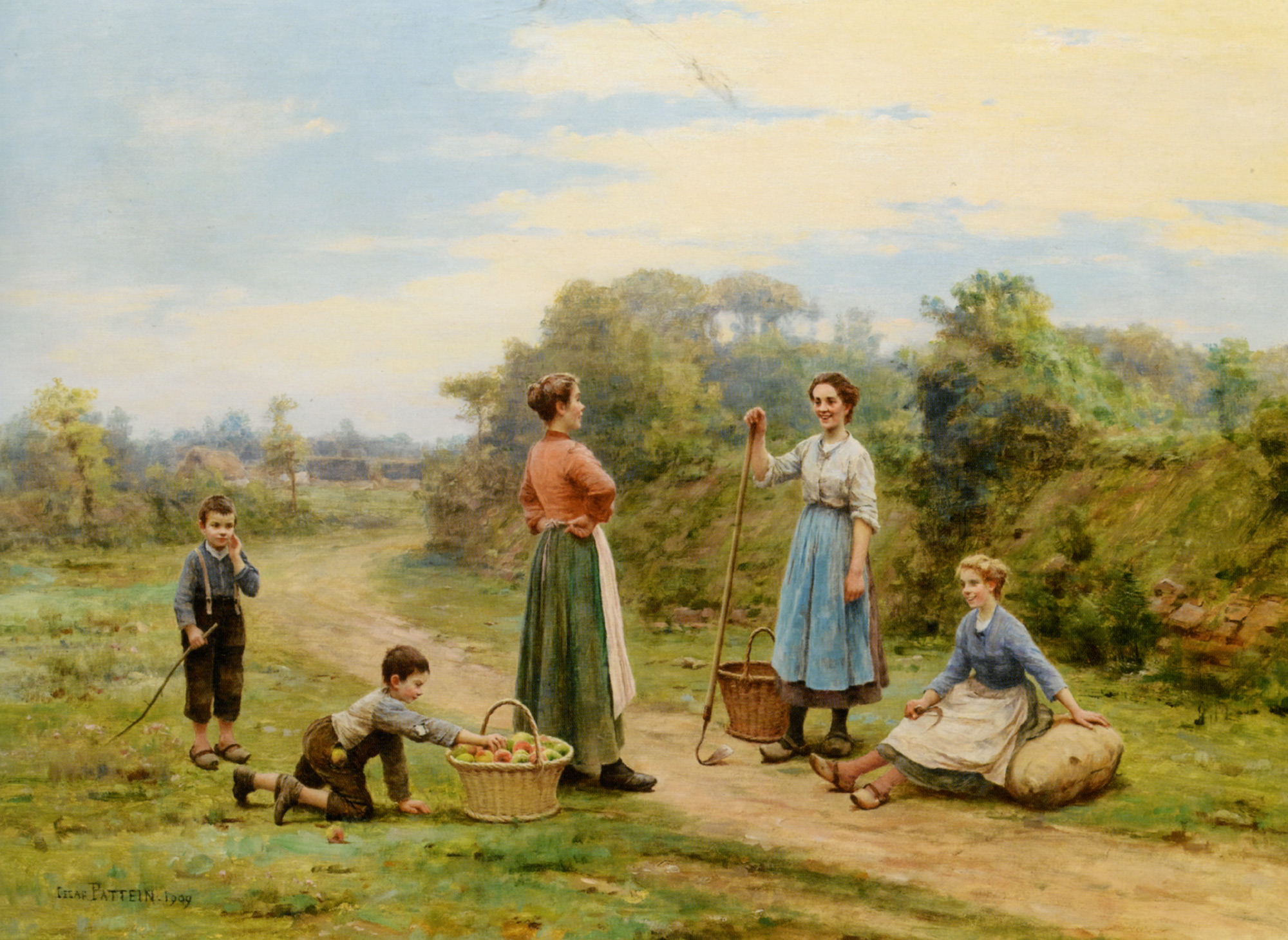 The thief of apples :: Cesar Pattein - Village life ôîòî