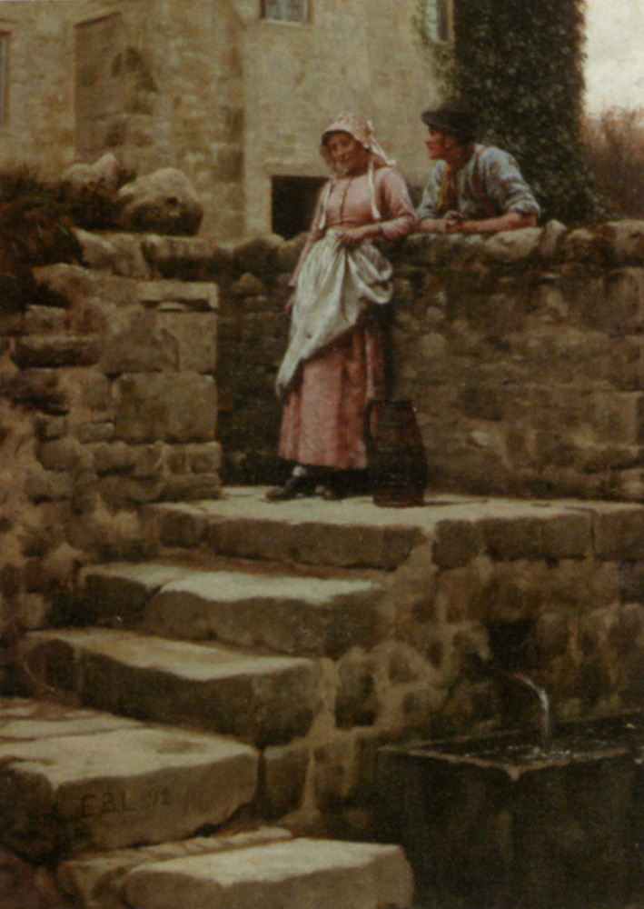 Sweethearts :: Edmund Blair Leighton - Romantic scenes in art and painting ôîòî