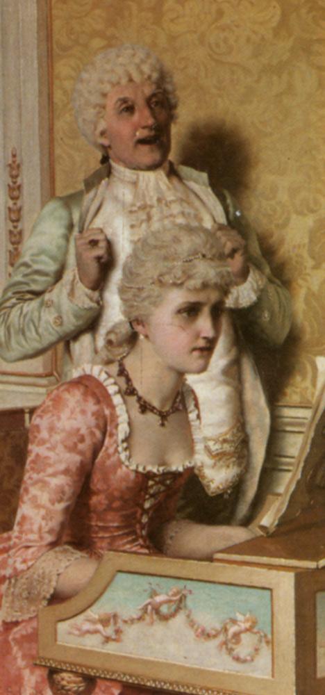 The Musical Suitor :: Edmund Blair Leighton - man and woman ôîòî