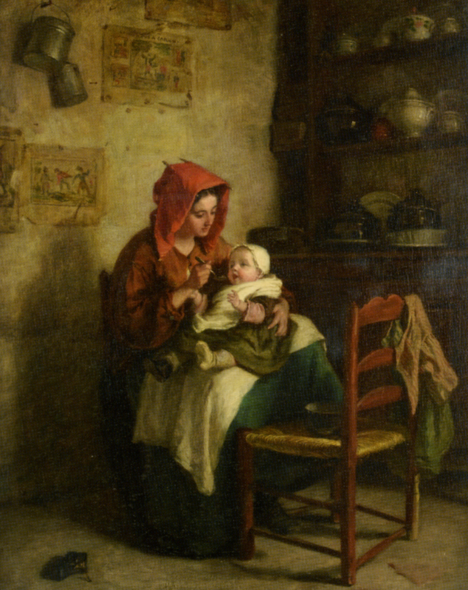 Feeding Time :: Edouard Frere - Woman and child in painting and art ôîòî