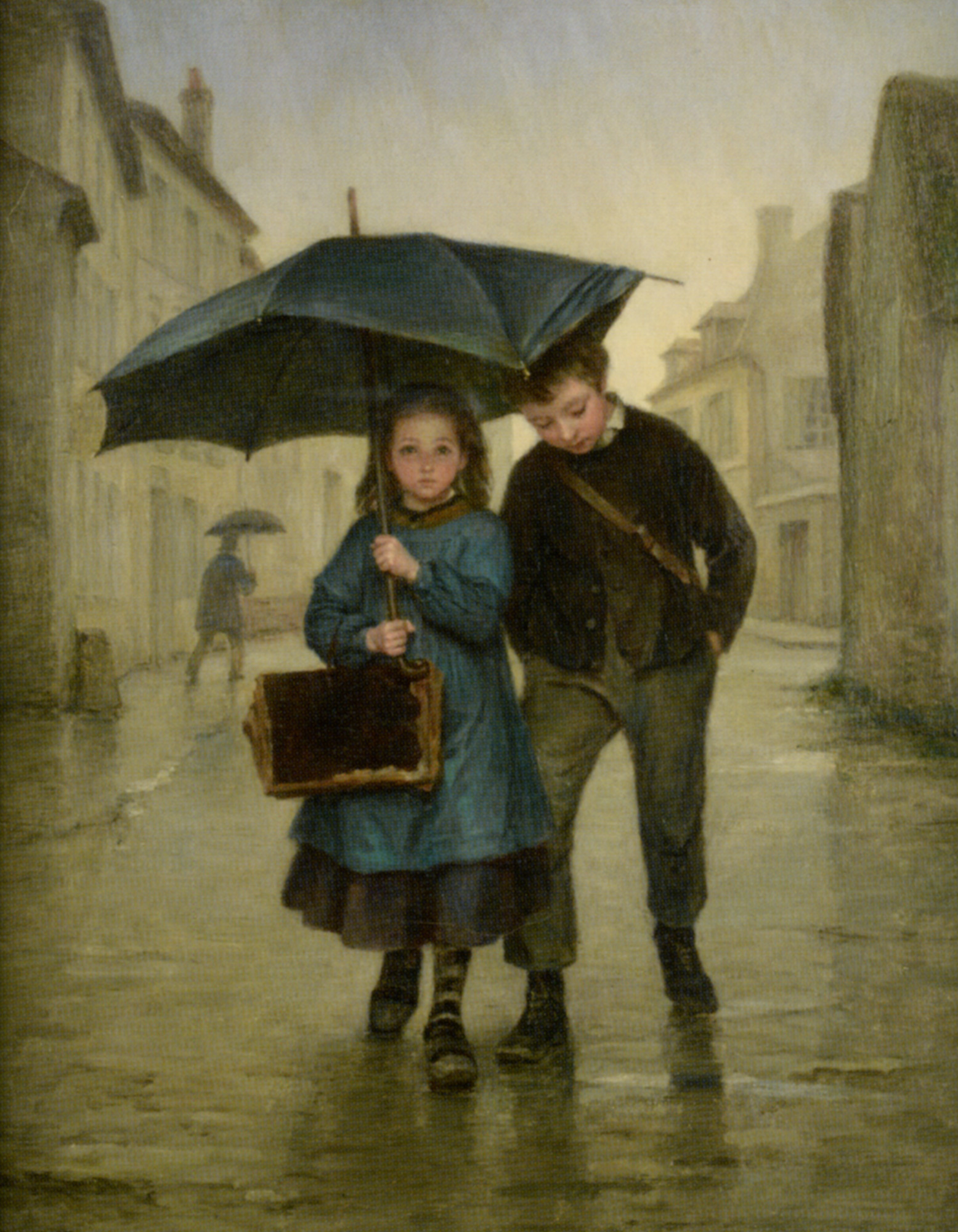 Going to School :: Edouard Frere - Children's portrait in art and painting ôîòî