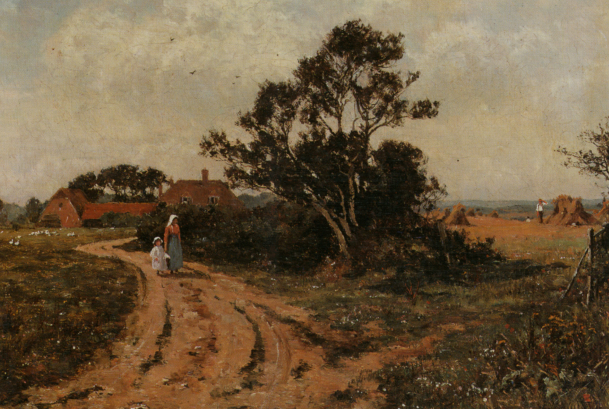 The Country Path :: Edward Wilkins Waite - Village life ôîòî