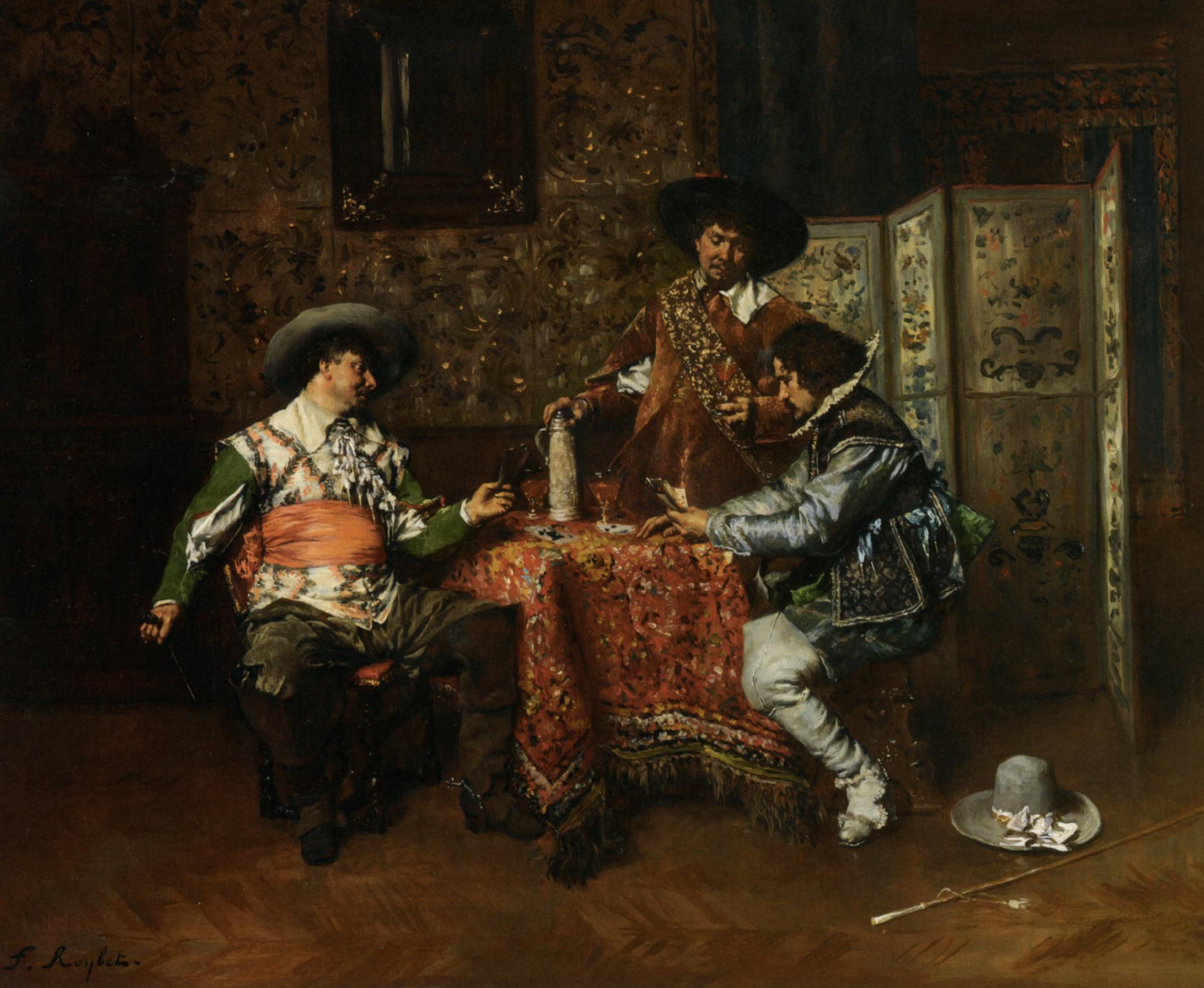 A Game of Cards :: Ferdinand Roybet - Rich interiors ôîòî