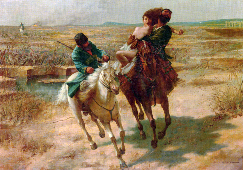 The Abduction :: Eugene Ansen Hoffman - Horses in art ôîòî