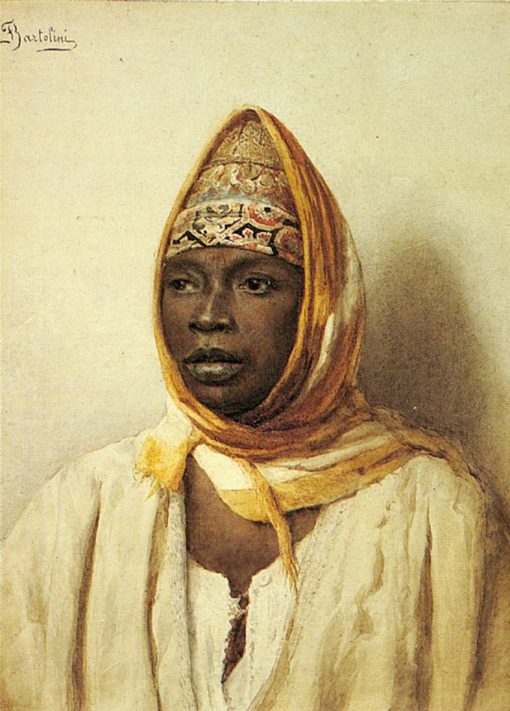 Portrait of an Arab Woman :: Frederico Bartolini - Arab women (Harem Life scenes) in art  and painting ôîòî