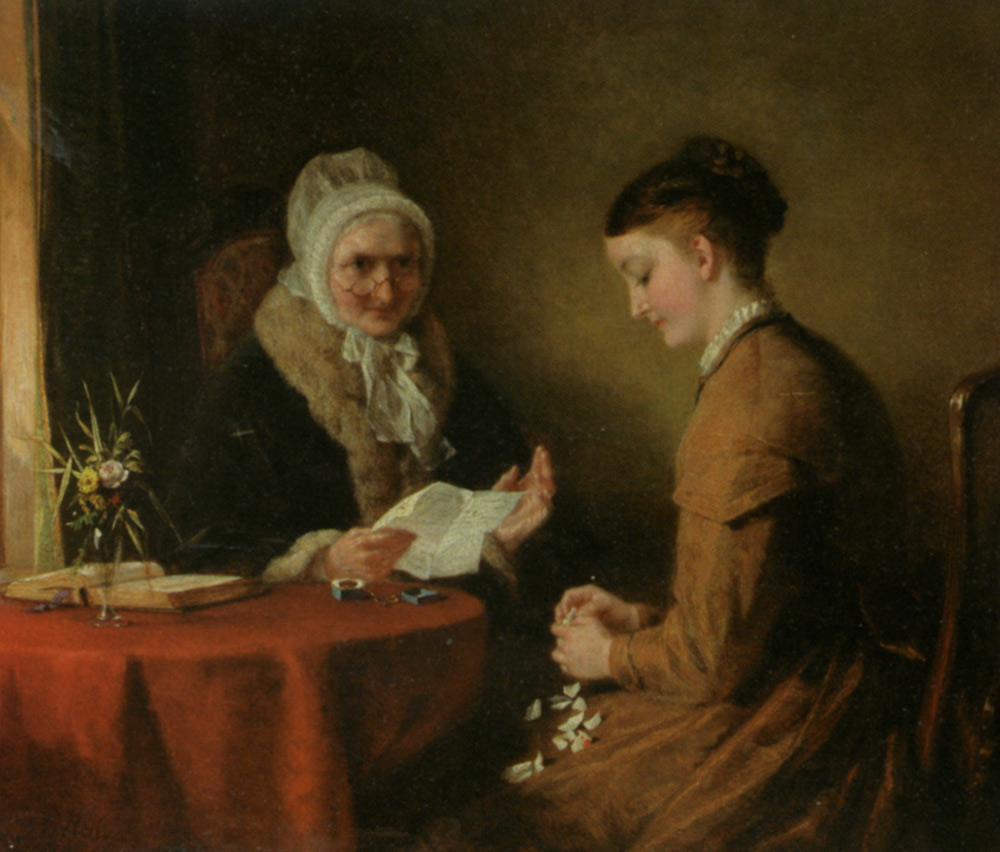The Broken Engagement :: George Bernard O'Neill - Romantic scenes in art and painting ôîòî