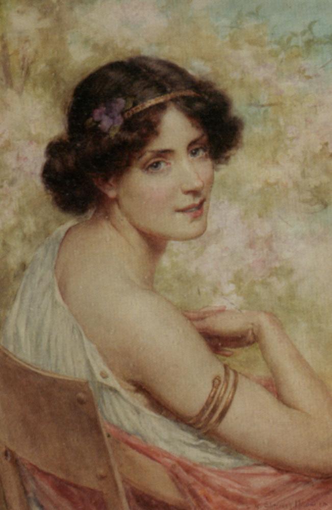 Spring :: George Sheridan Knowles - Antique beauties in art and painting ôîòî