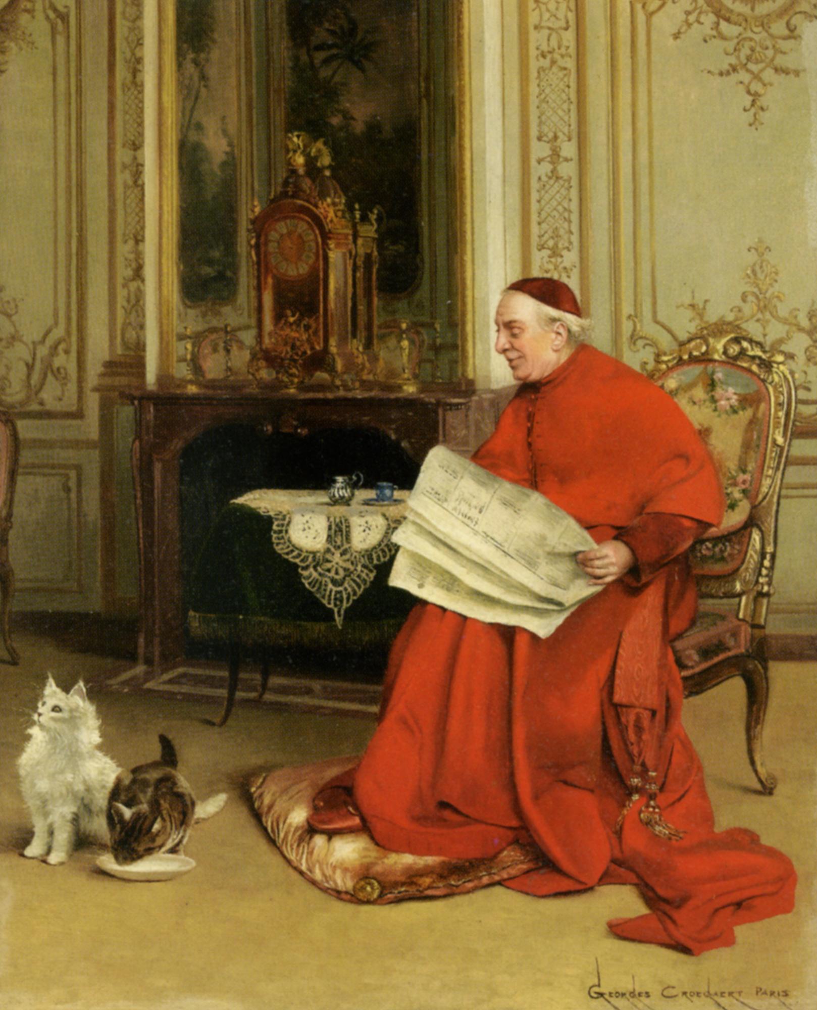 Reading the News :: Georges Croegaert - Rich interiors ôîòî