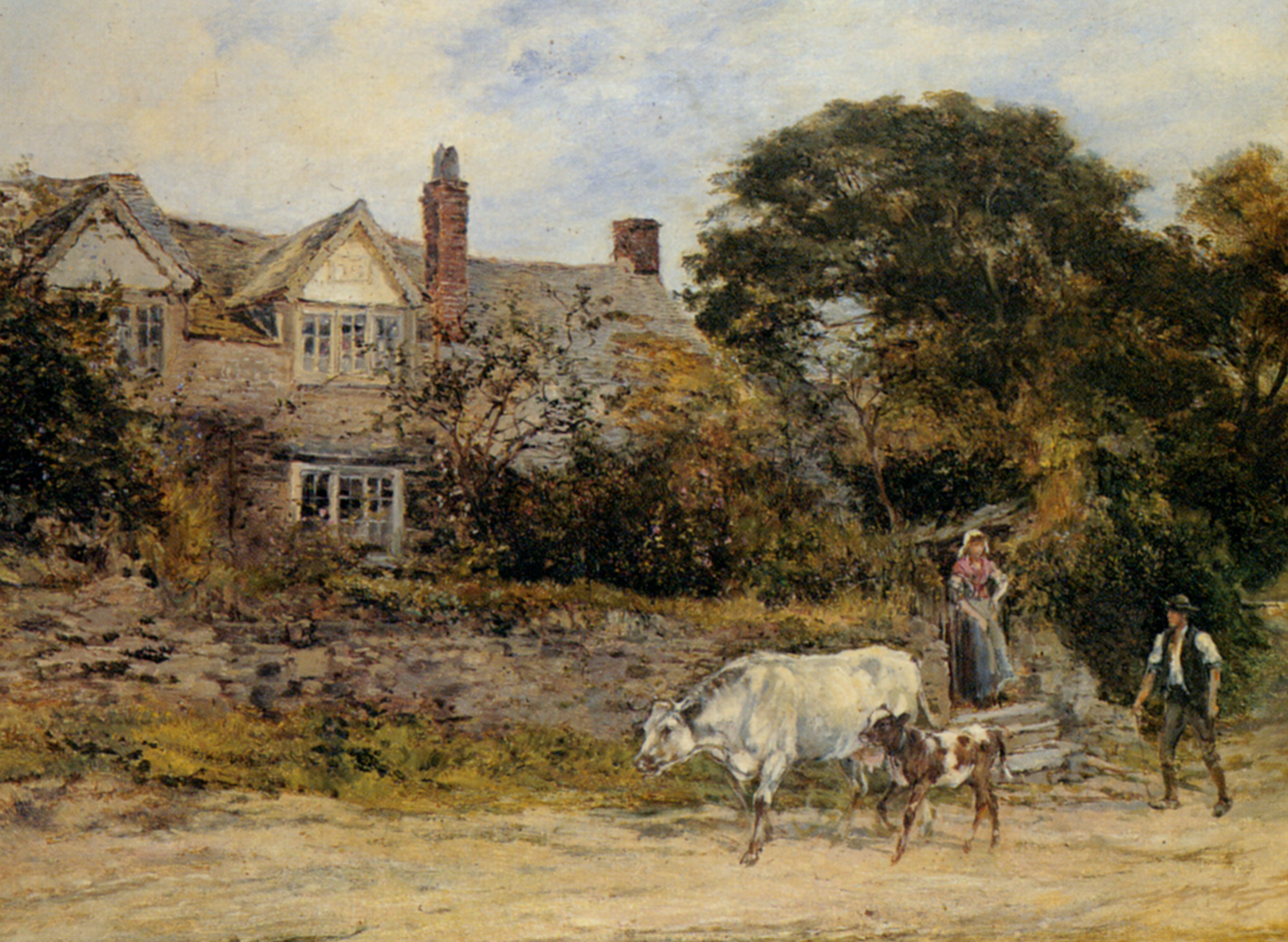 The Herdsmans Greeting :: Heywood Hardy - Rural houses ôîòî