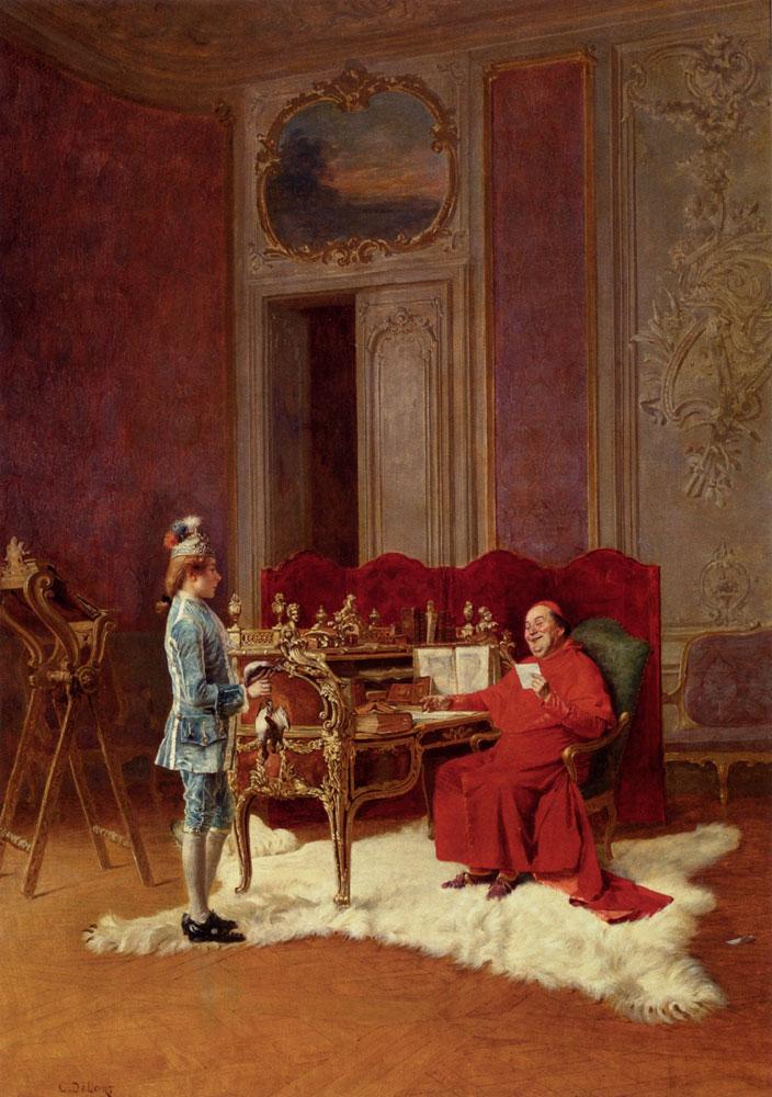 Game For The Cardinal :: Charles Edouard Edmond Delort - Rich interiors ôîòî