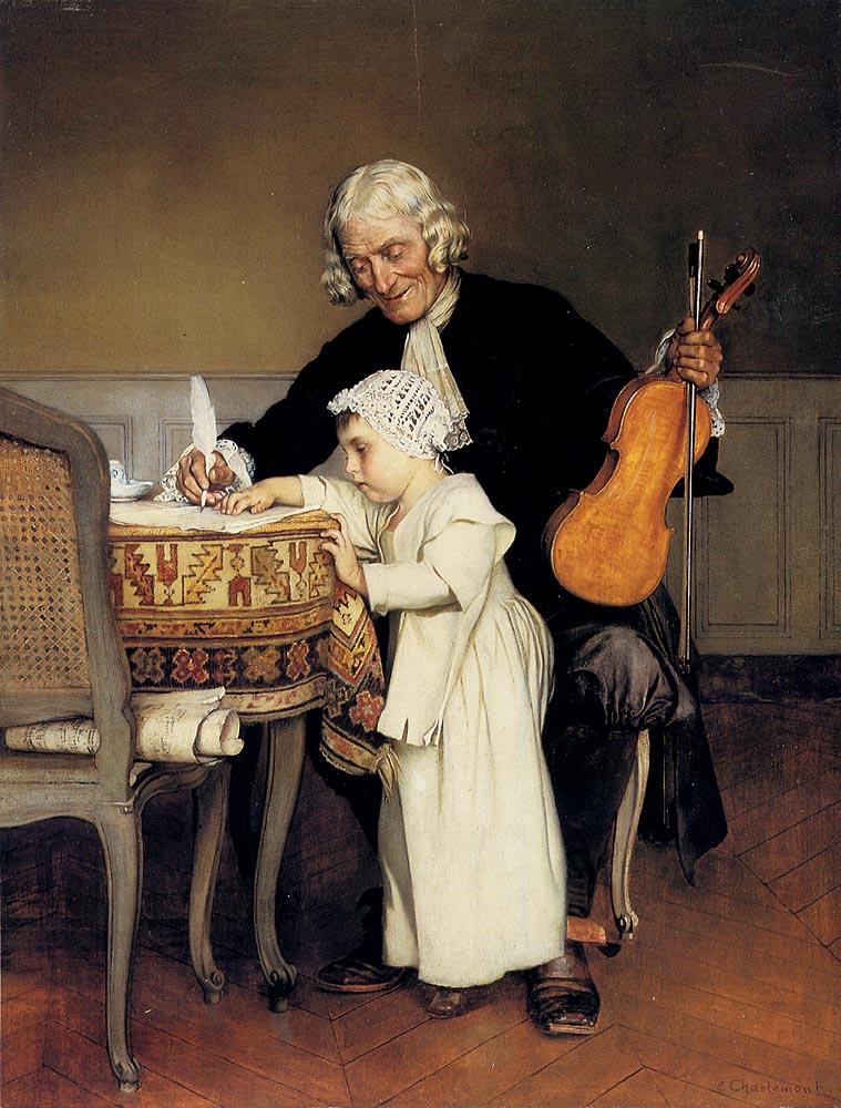 The Music Lesson :: Eduard Charlemont - Rich interiors ôîòî