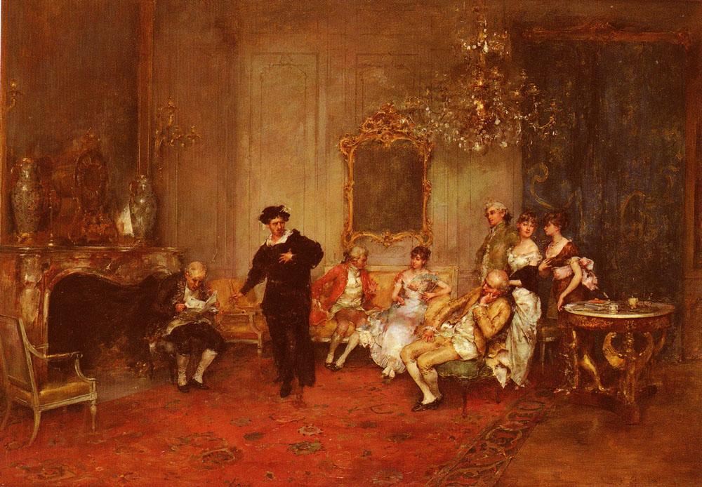 Receiving The News :: Juan Antonio Gonzalez - Rich interiors ôîòî