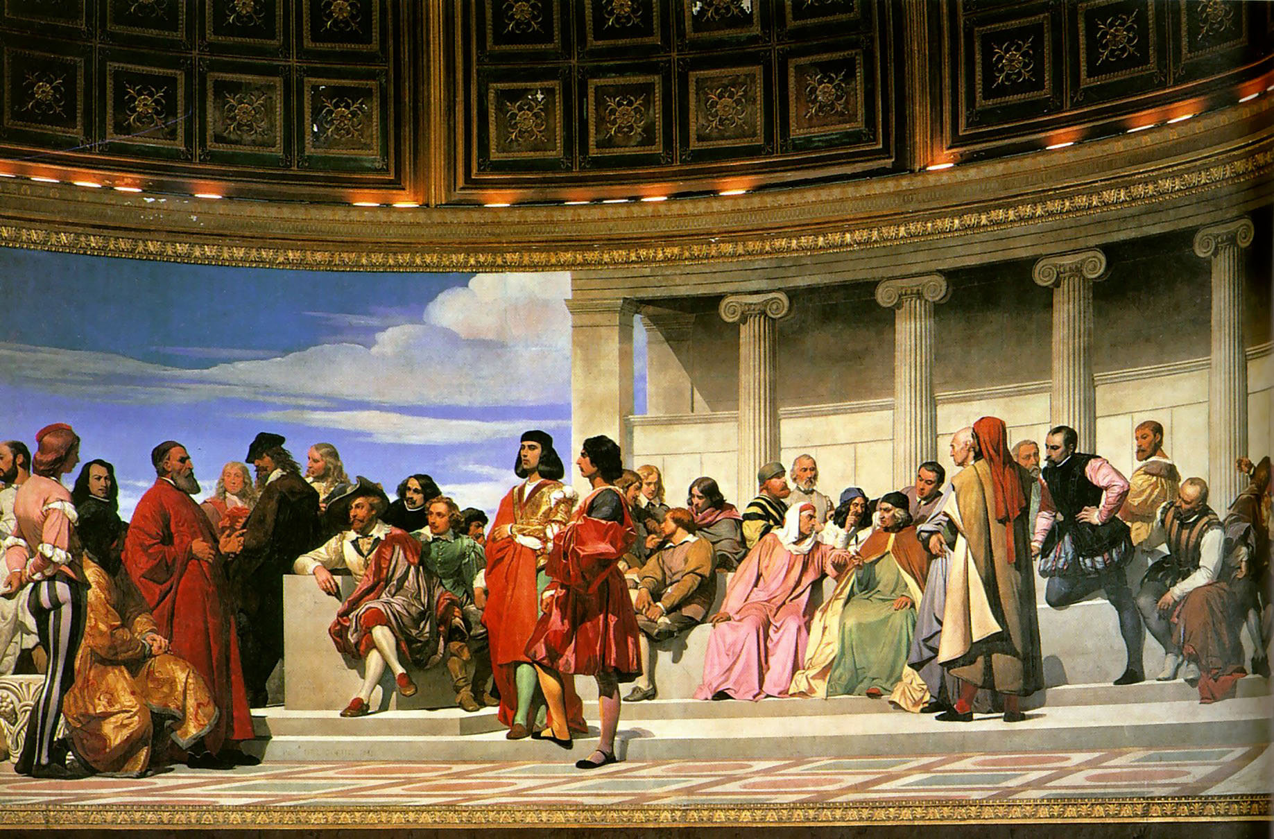 Semicircle at the School of Fine Arts :: Paul Delaroche - Antique world scenes ôîòî