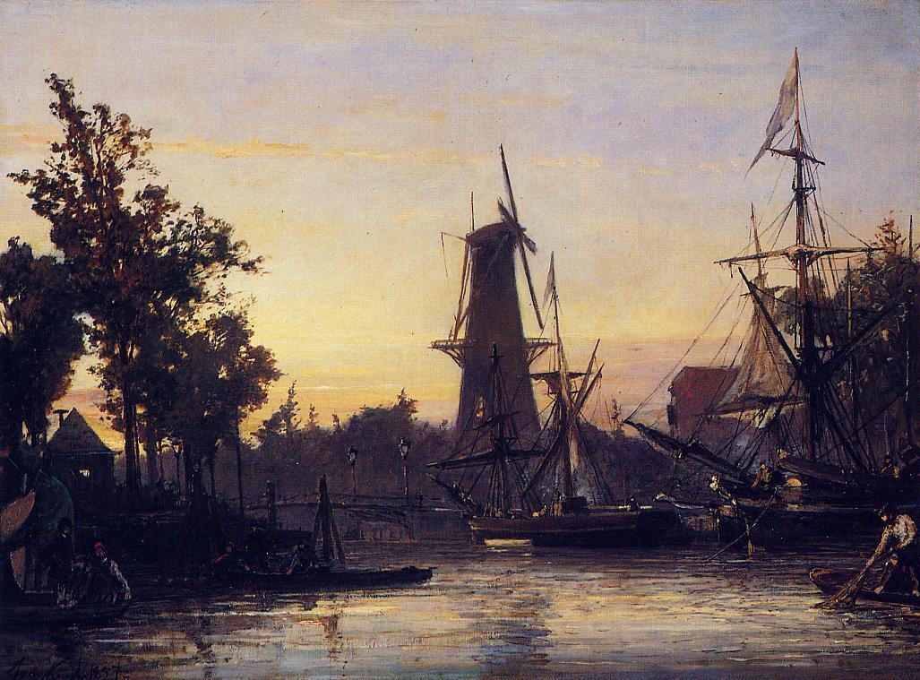 Binneshaven, Rotterdam :: Johan Barthold Jongkind - Holland and Dutch ôîòî