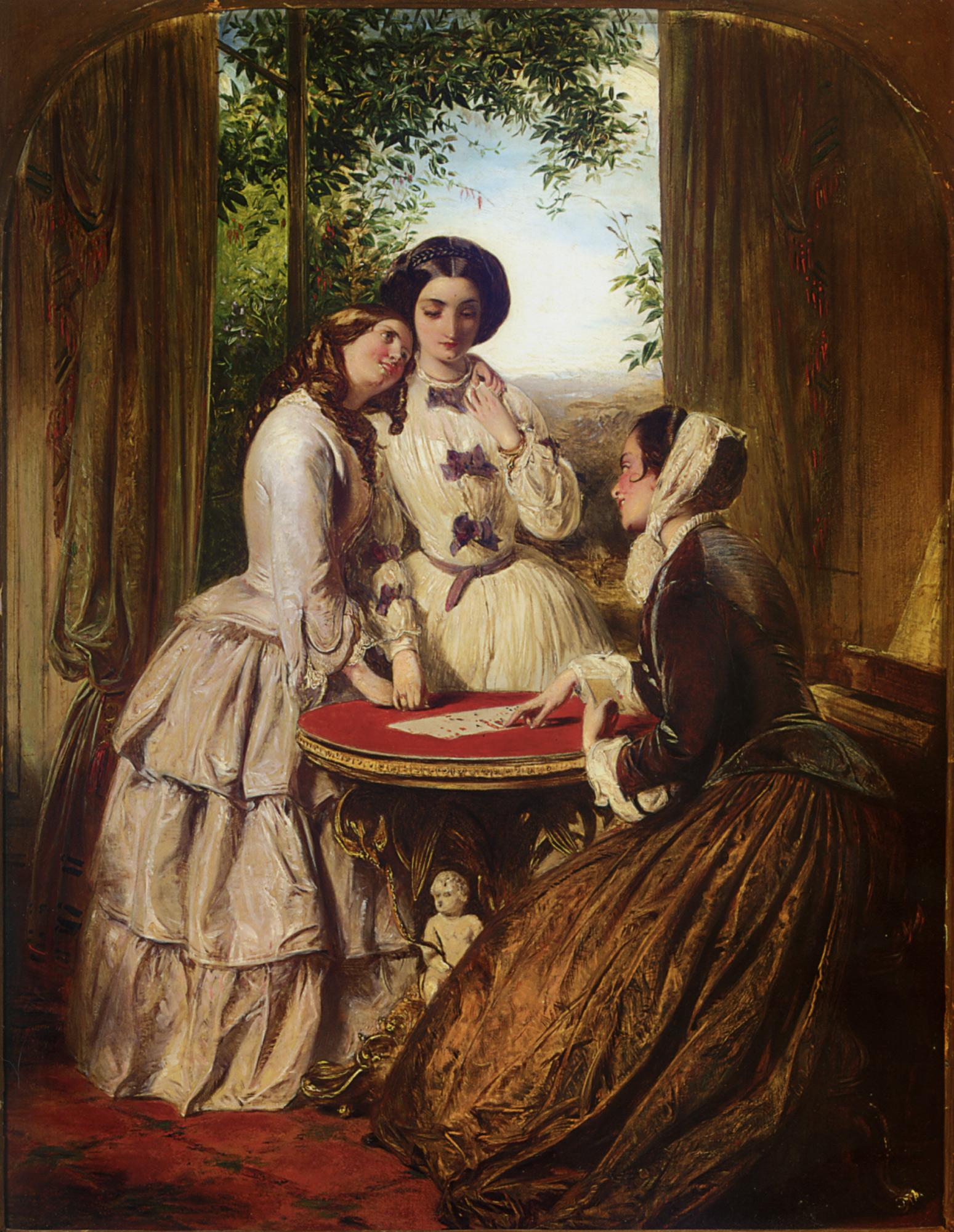 Doubtful Fortune :: Abraham Solomon - Romantic scenes in art and painting ôîòî