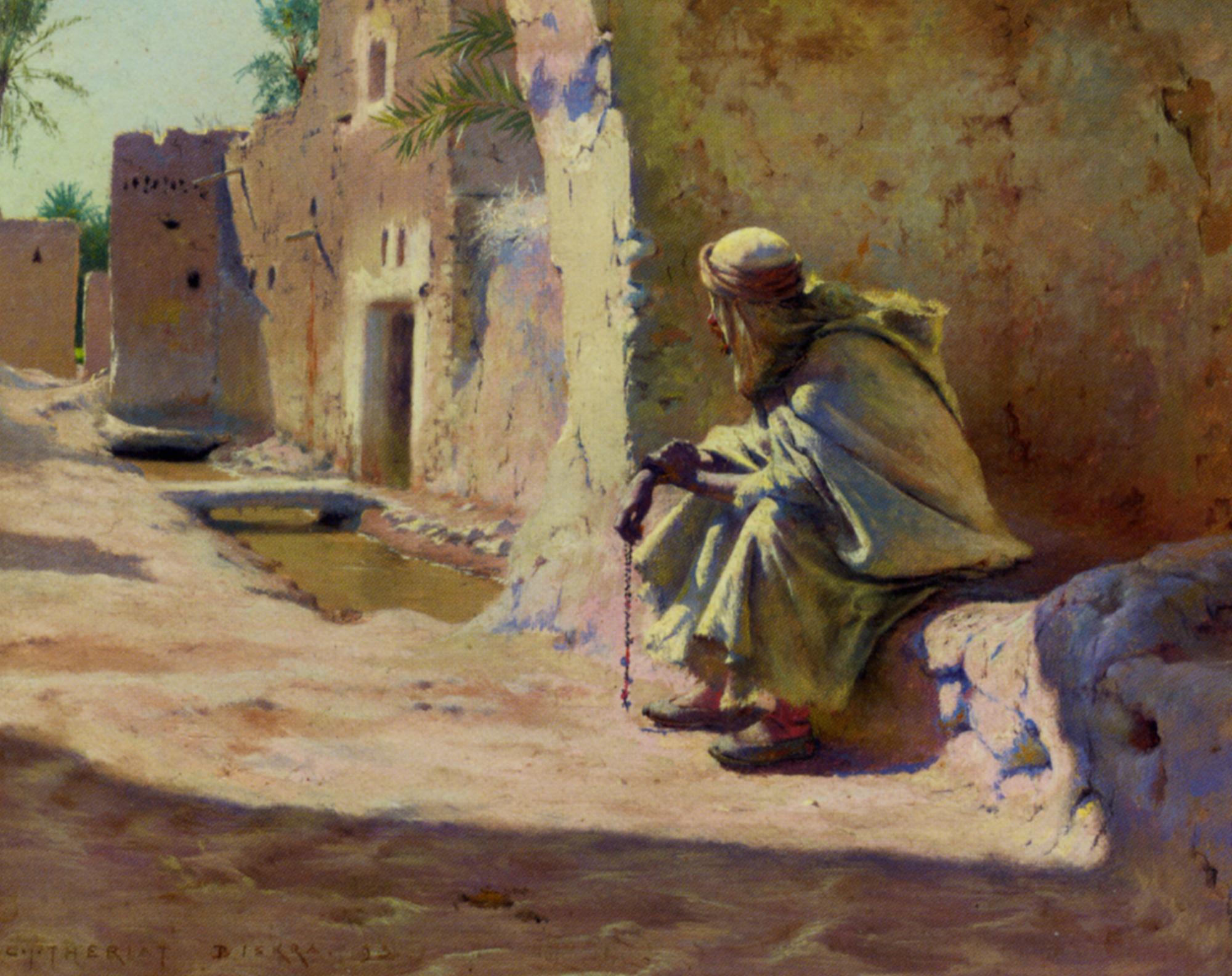 In the Shade, Biskra :: Charles James Theriat - scenes of Oriental life (Orientalism) in art and painting ôîòî