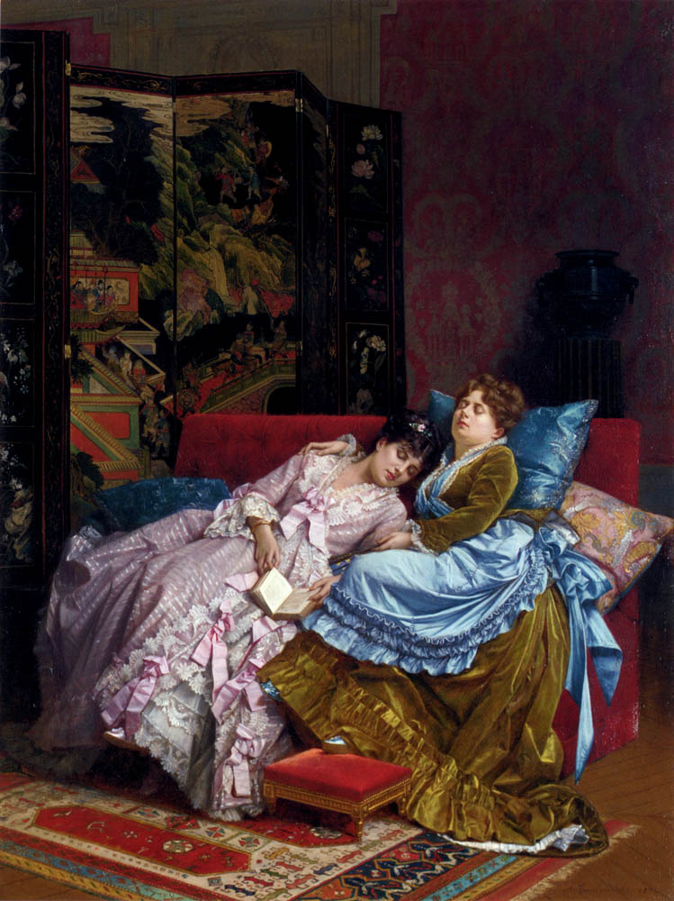 An Afternoon Idyll :: Auguste Toulmouche - Interiors in art and painting ôîòî