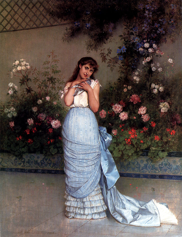 An Elegant Beauty :: Auguste Toulmouche - 7 female portraits ( the end of 19 centuries ) in art and painting ôîòî