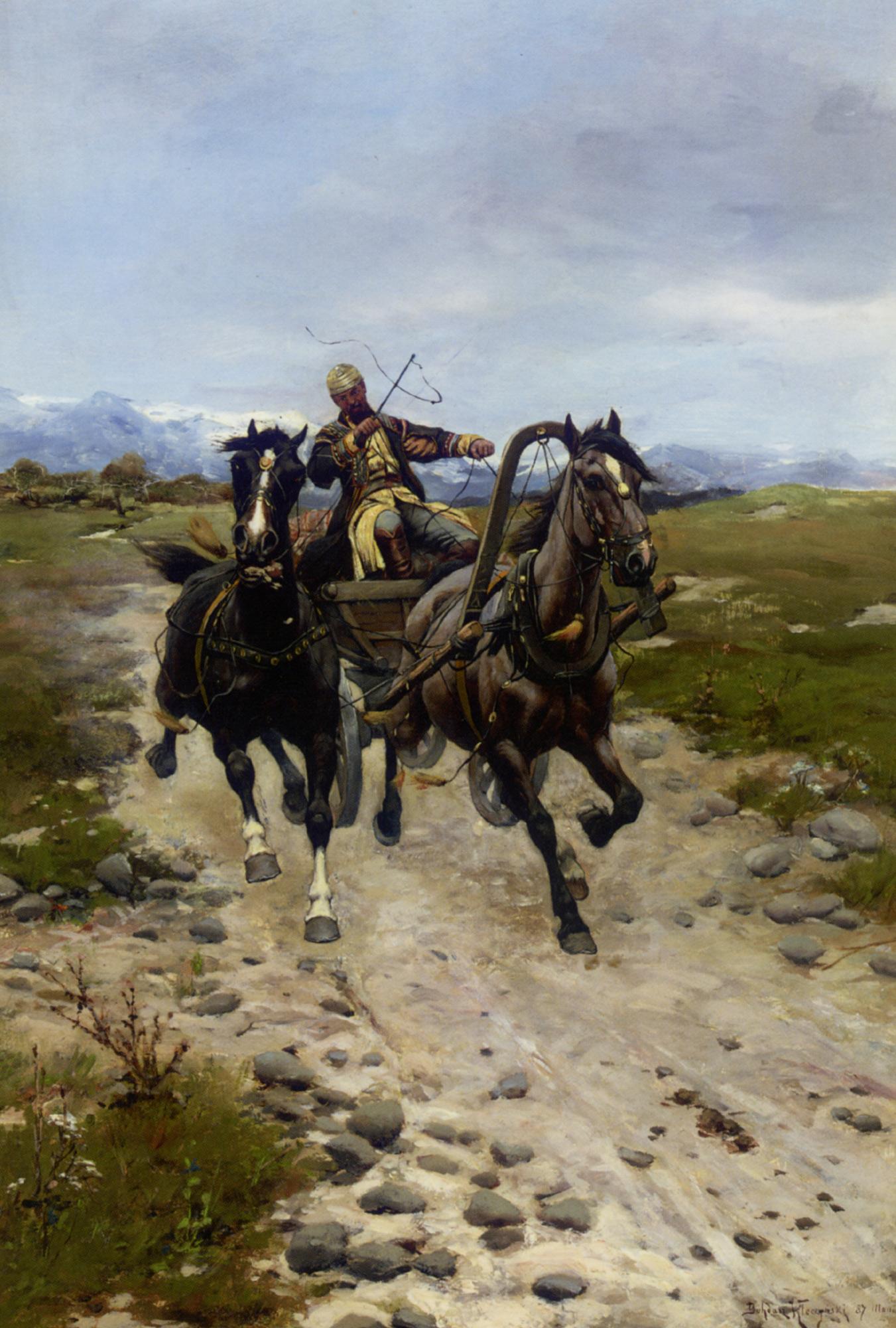 On The Move :: Bodhan Von Kleczynski - Horses in art ôîòî