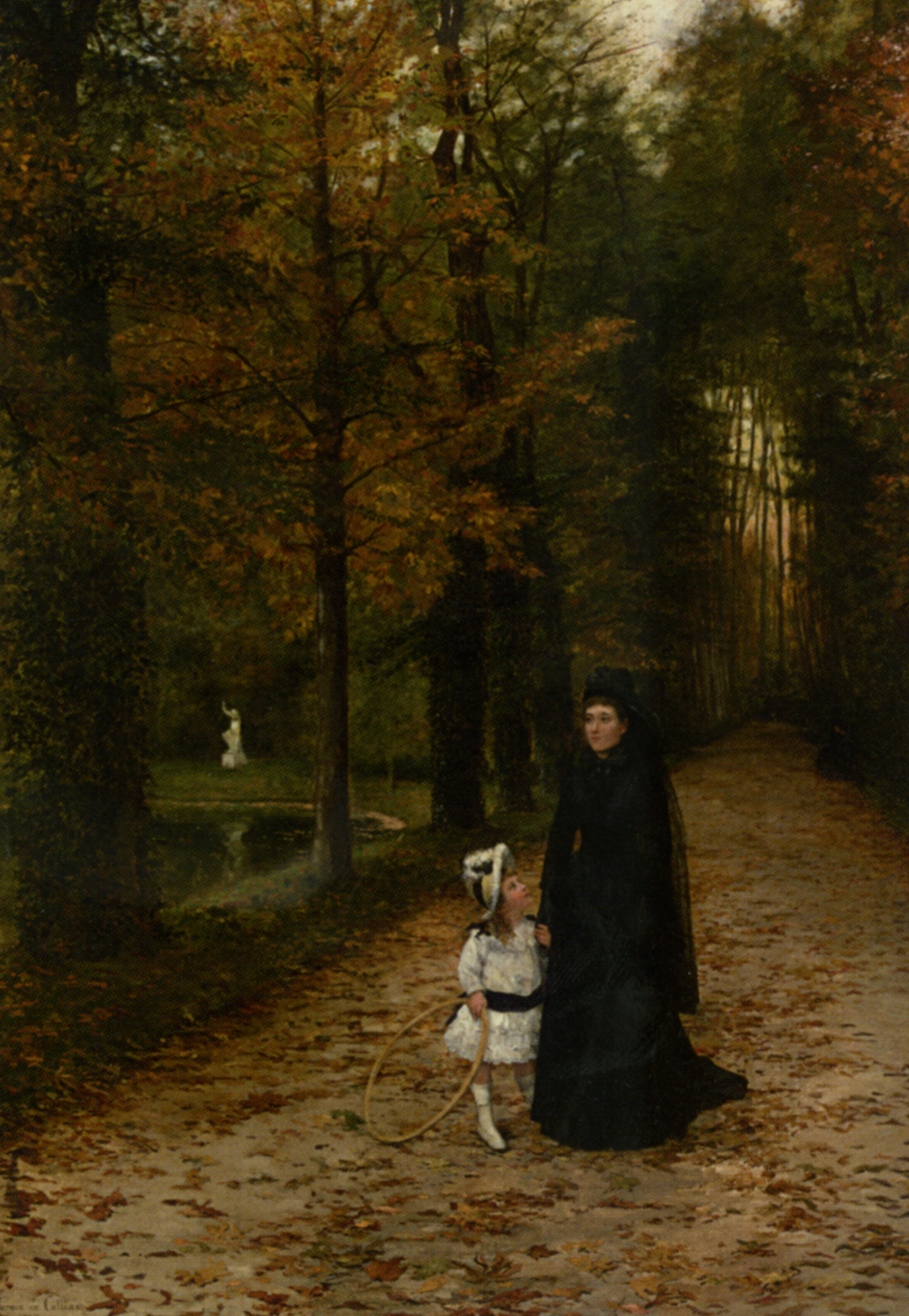 The walk in the park :: Horace de Callias - Woman and child in painting and art ôîòî