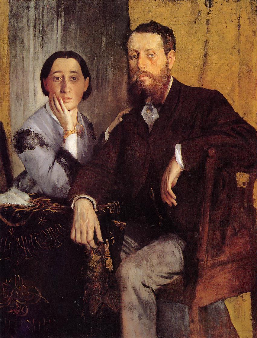 Edmond and Therese Morbilli :: Edgar Degas - man and woman ôîòî