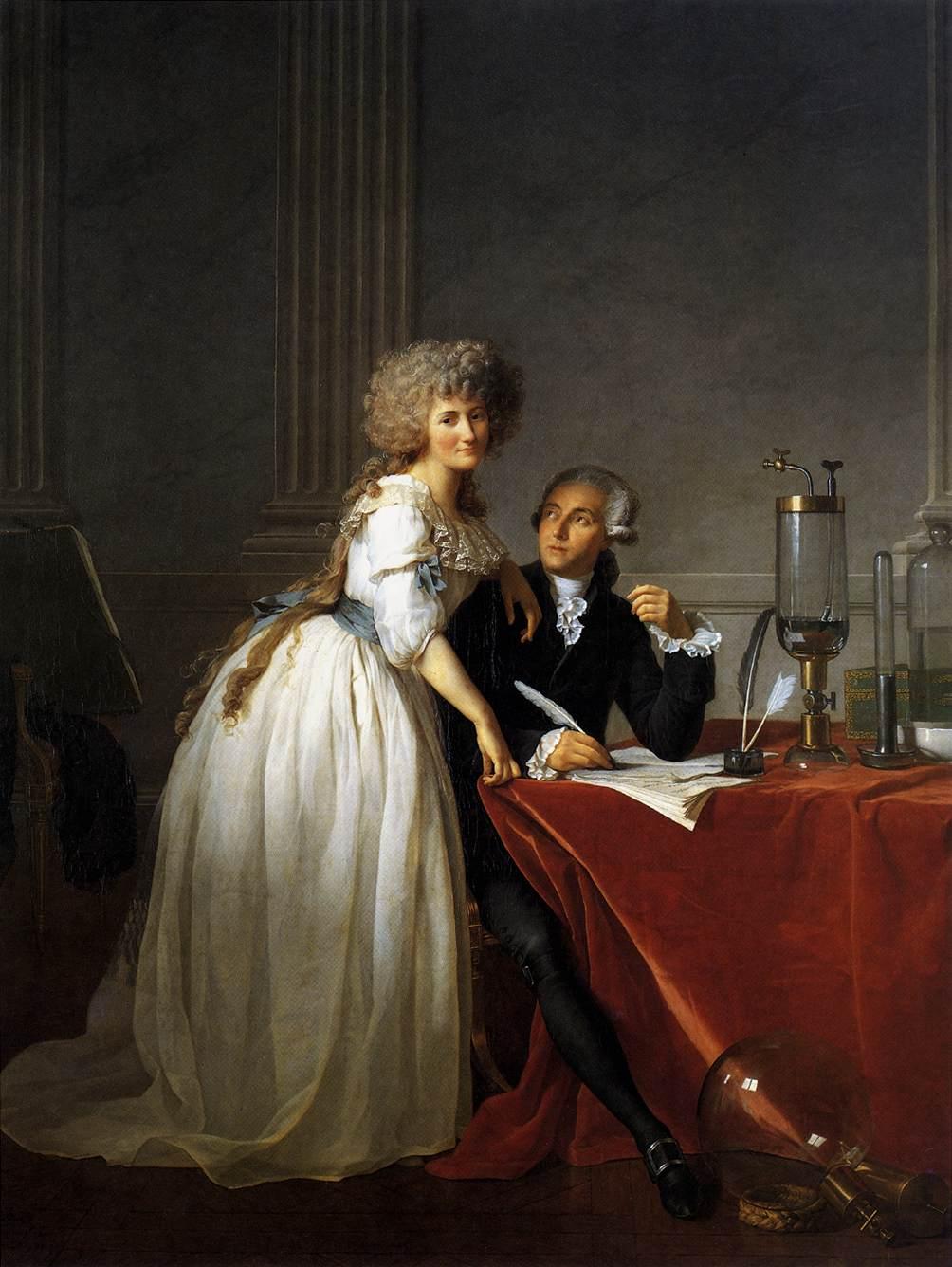 Portrait of Antoine-Laurent and Marie-Anne Lavoisier :: Jacques-Louis David  - man and woman ôîòî