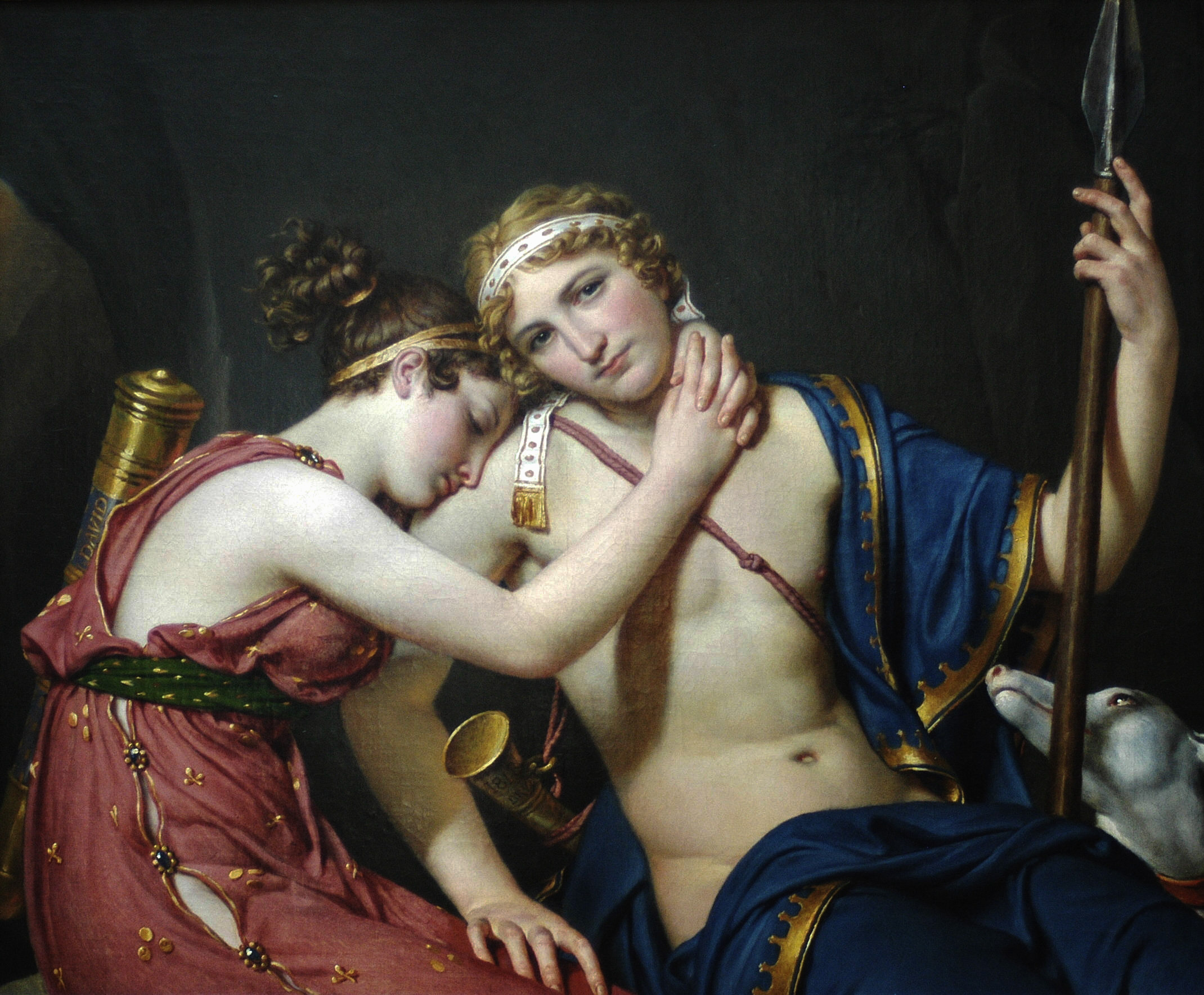 The Farewell of Telemachus and Eucharis :: Jacques-Louis David - man and woman ôîòî