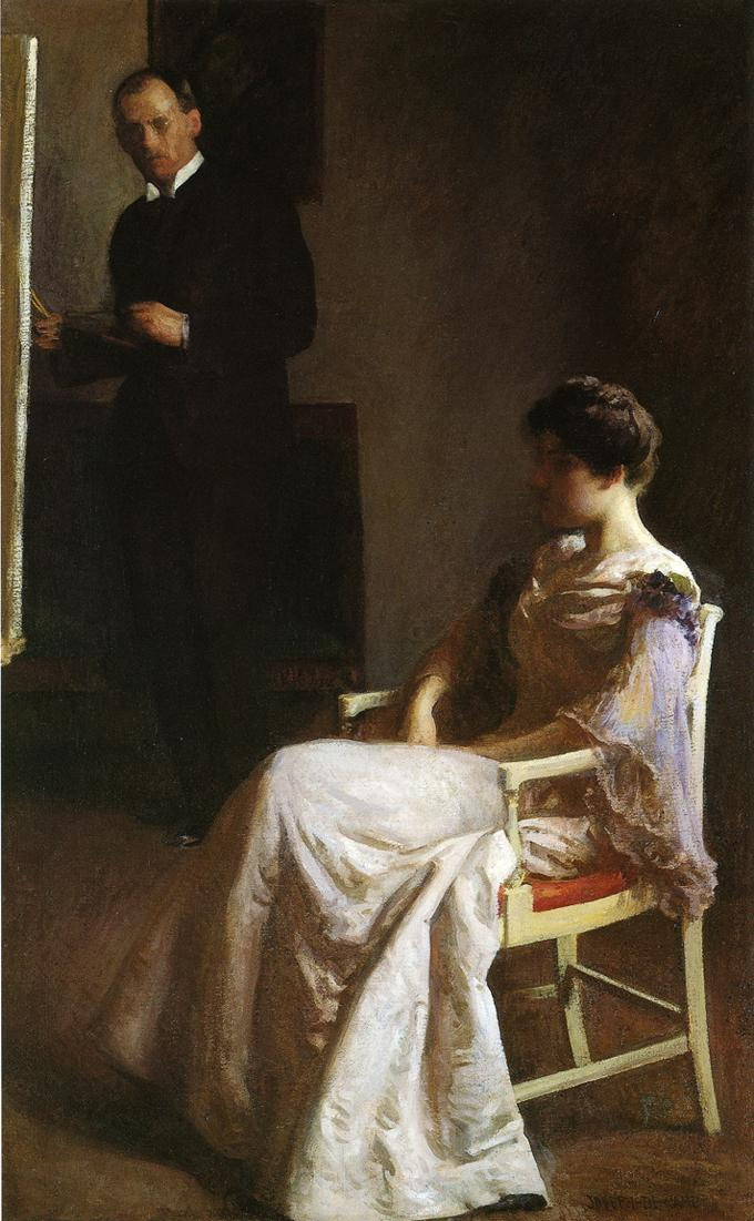 In the Studio :: Joseph Rodefer de Camp - man and woman ôîòî