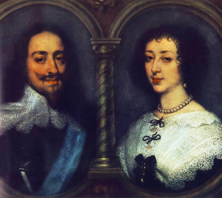 Charles I of England and Henrietta of France :: Sir Antony van Dyck - man and woman ôîòî