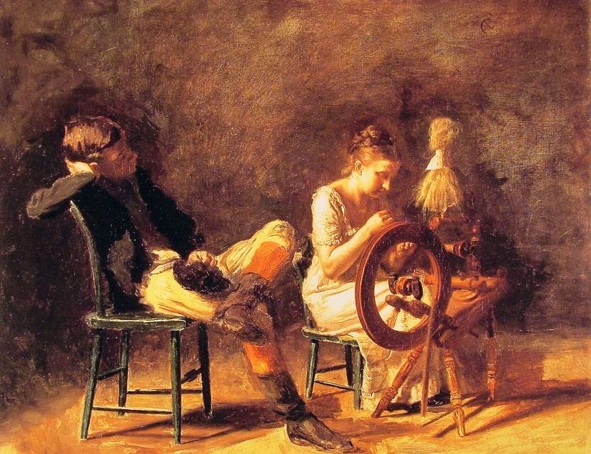 The Courtship :: Thomas Eakins - Romantic scenes in art and painting ôîòî