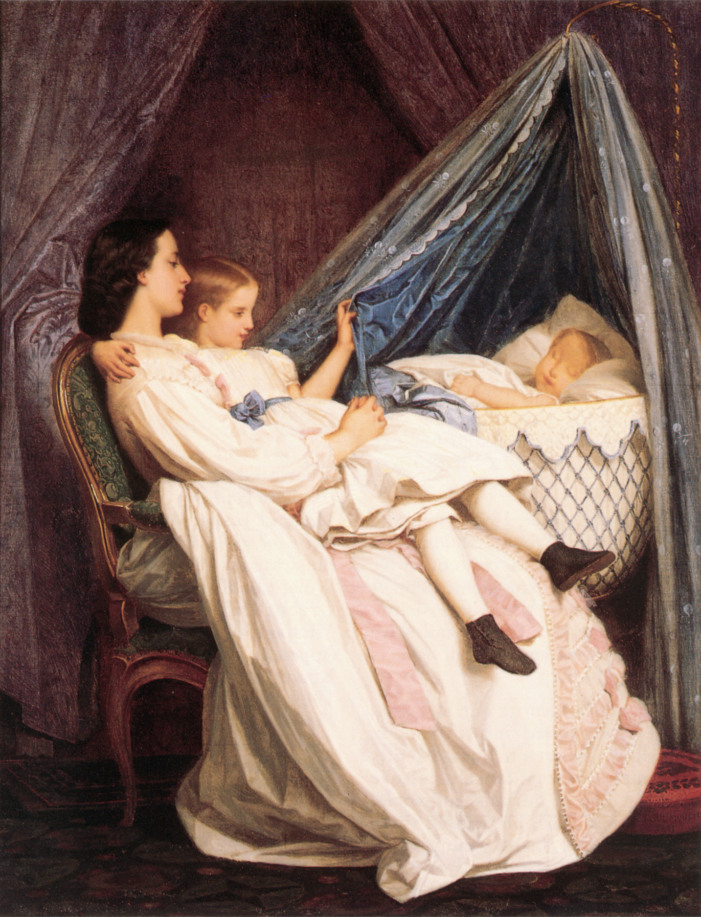 The New Arrival :: Auguste Toulmouche - Woman and child in painting and art ôîòî