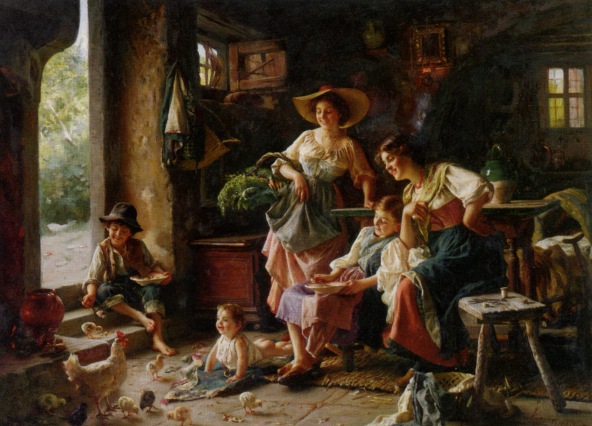 Fun With Baby :: Giuseppe Magni - Woman and child in painting and art ôîòî