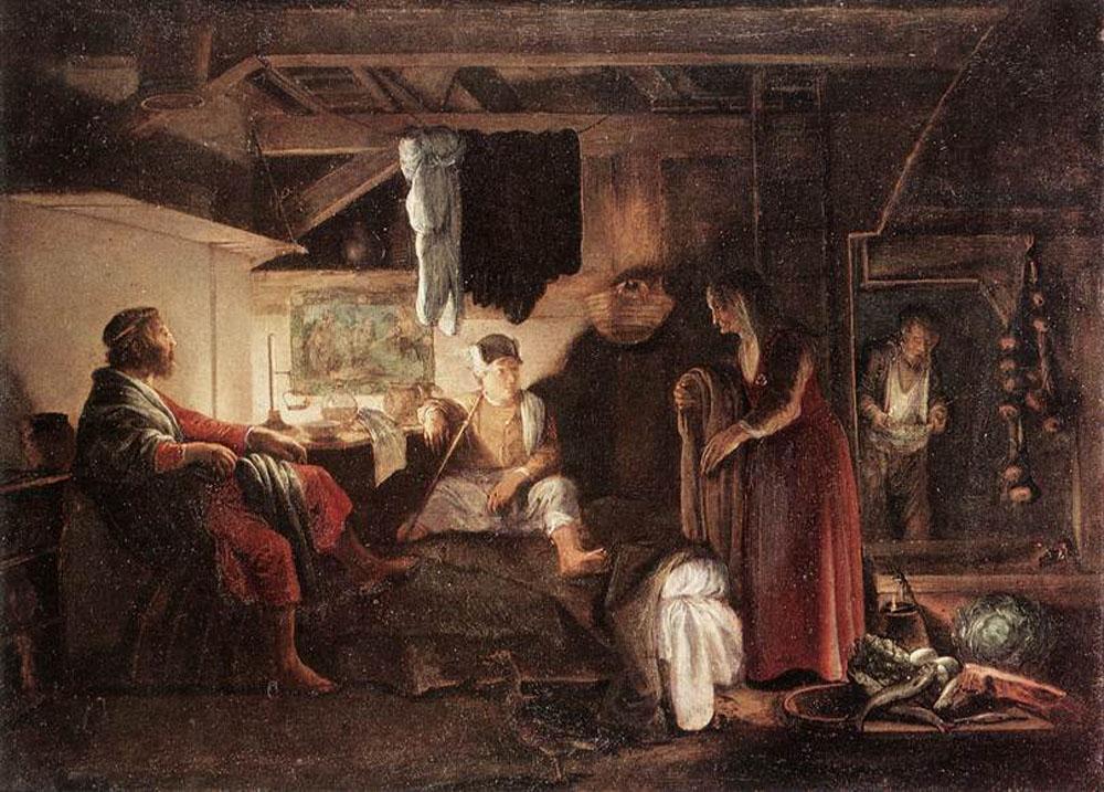 Jupiter and Mercury at Philemon and Baucis :: Adam Elsheimer  - mythology and poetry ôîòî