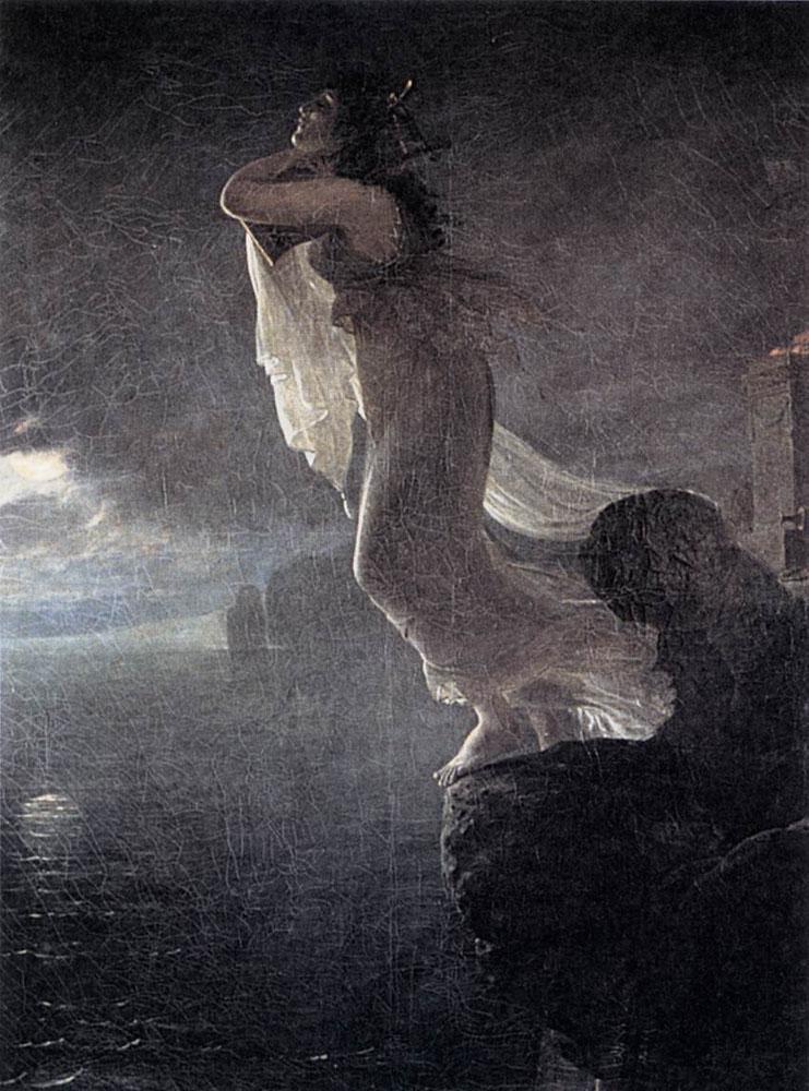 Sappho at Leucate :: Antoine-Jean Gros - Art scenes from literary works ôîòî