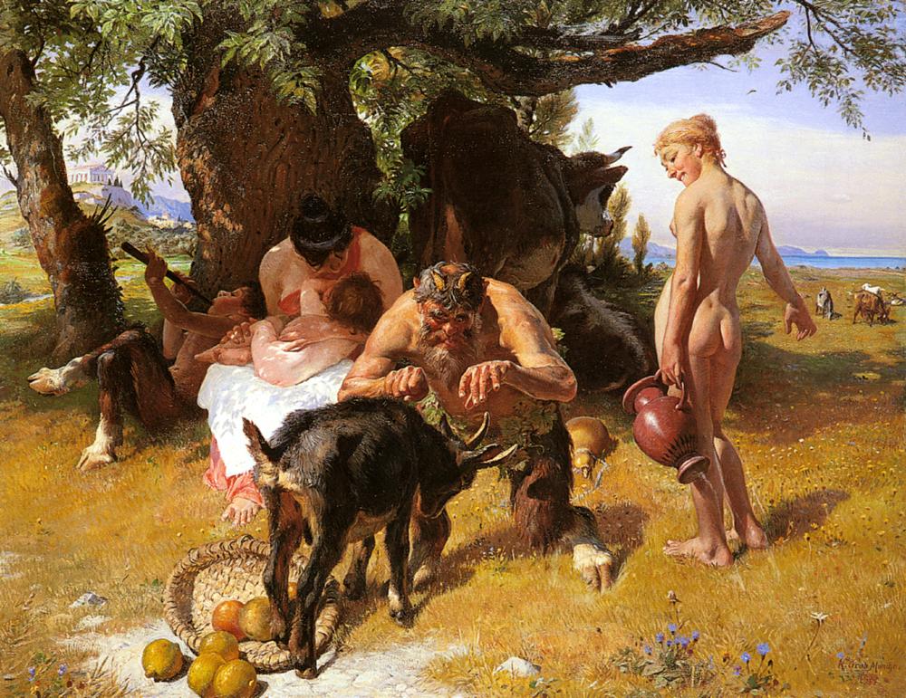 Bacchanale :: Conrad Grob  - mythology and poetry ôîòî
