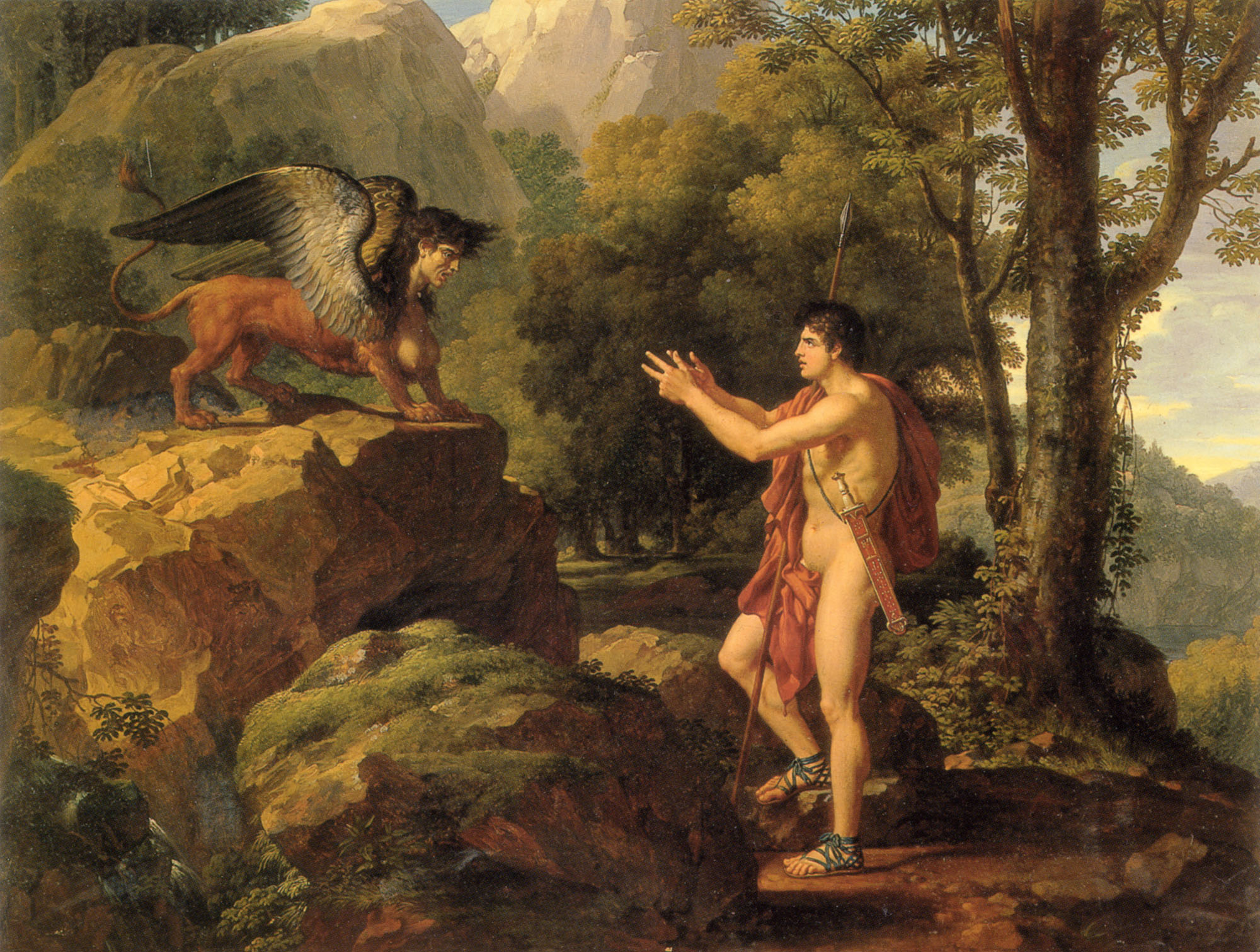 Oedipus and the Sphinx :: Fransois-Xavier Fabri - mythology and poetry ôîòî