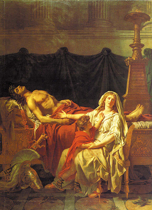Andromache Mourning Hector :: Jacques-Louis David - mythology and poetry ôîòî