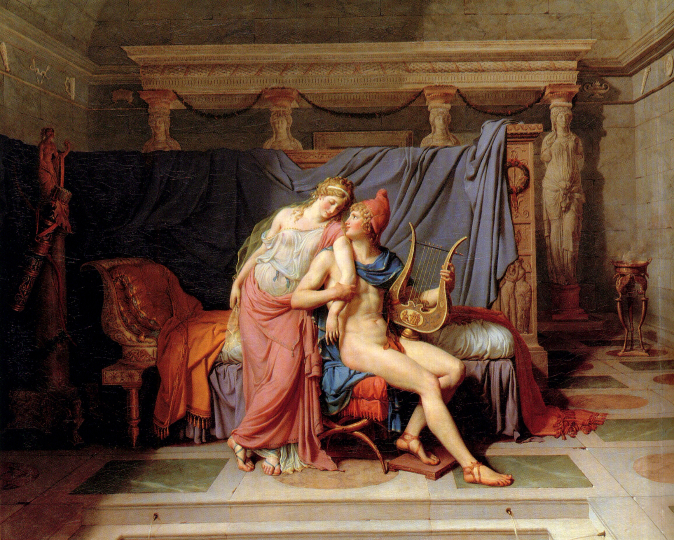 The Courtship of Paris and Helen :: Jacques-Louis David - mythology and poetry ôîòî