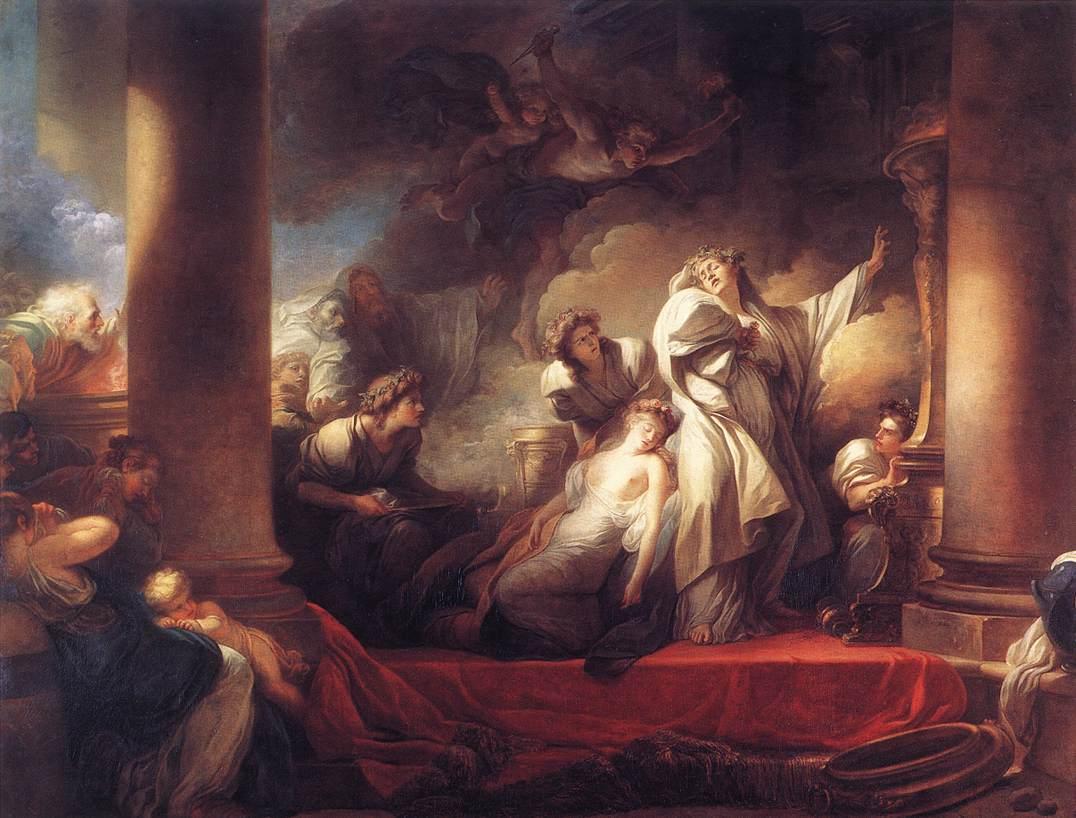 Coresus Sacrificing himselt to Save Callirhoe :: Jean-Honore Fragonard - mythology and poetry ôîòî