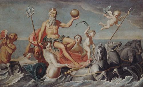 The Return of Neptune :: John Singleton Copley - mythology and poetry ôîòî