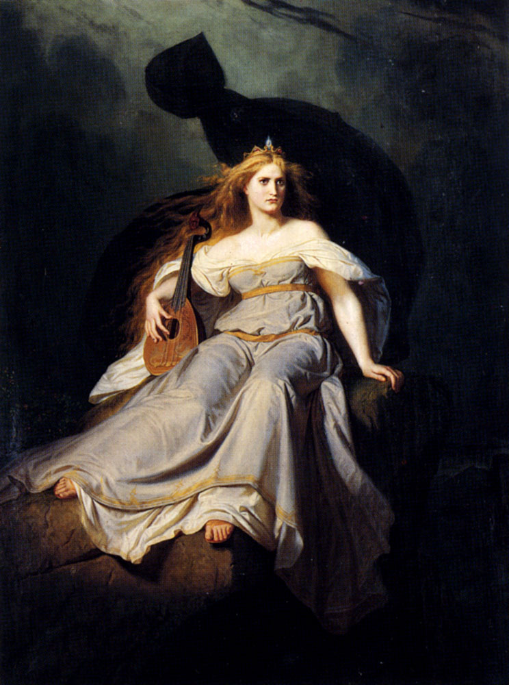 The Muse Of Music :: Karl Ludwig Adolf Ehrhardt - Allegory in art and painting ôîòî