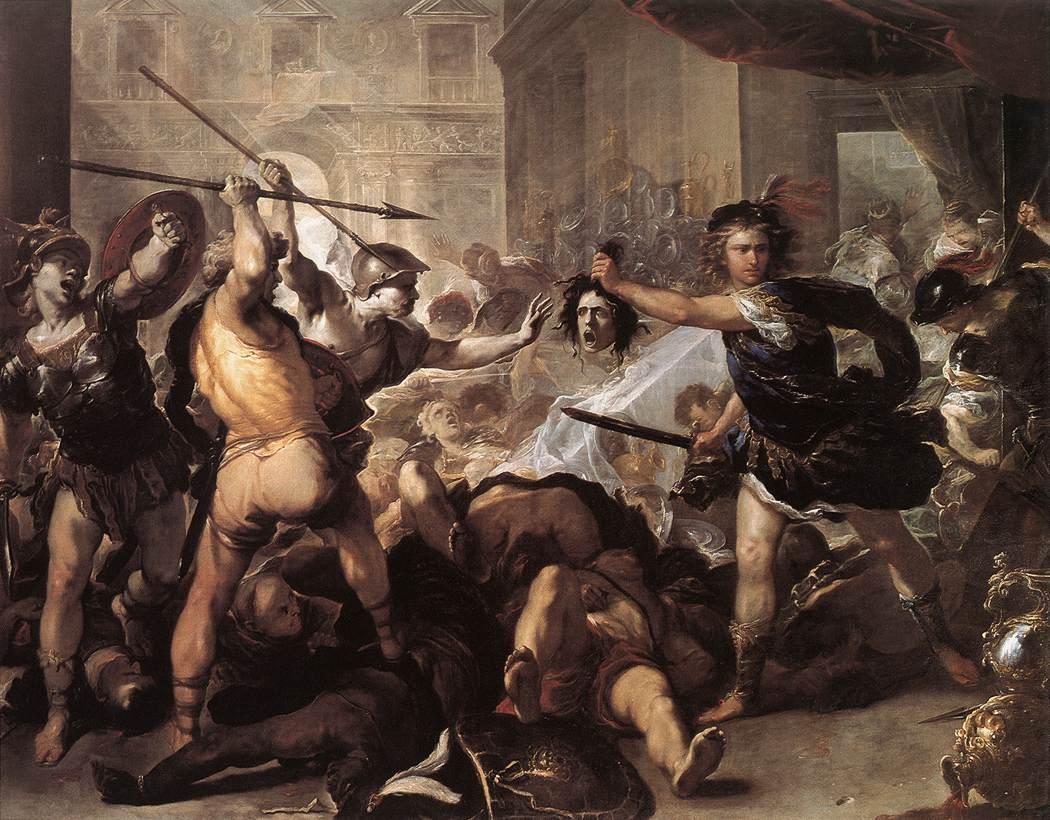Perseus Fighting Phineus and his Companions :: Luca Giordano - mythology and poetry ôîòî