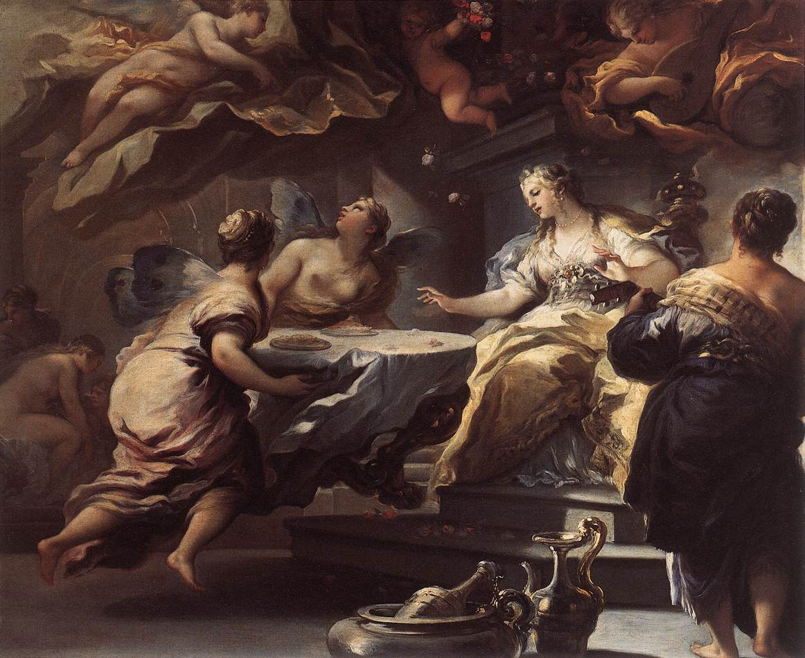 Psyche Served by Invisible Spirits :: Luca Giordano - mythology and poetry ôîòî