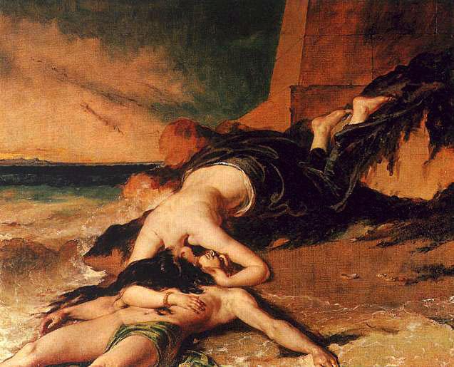 Hero and Leander :: William Etty  - mythology and poetry ôîòî