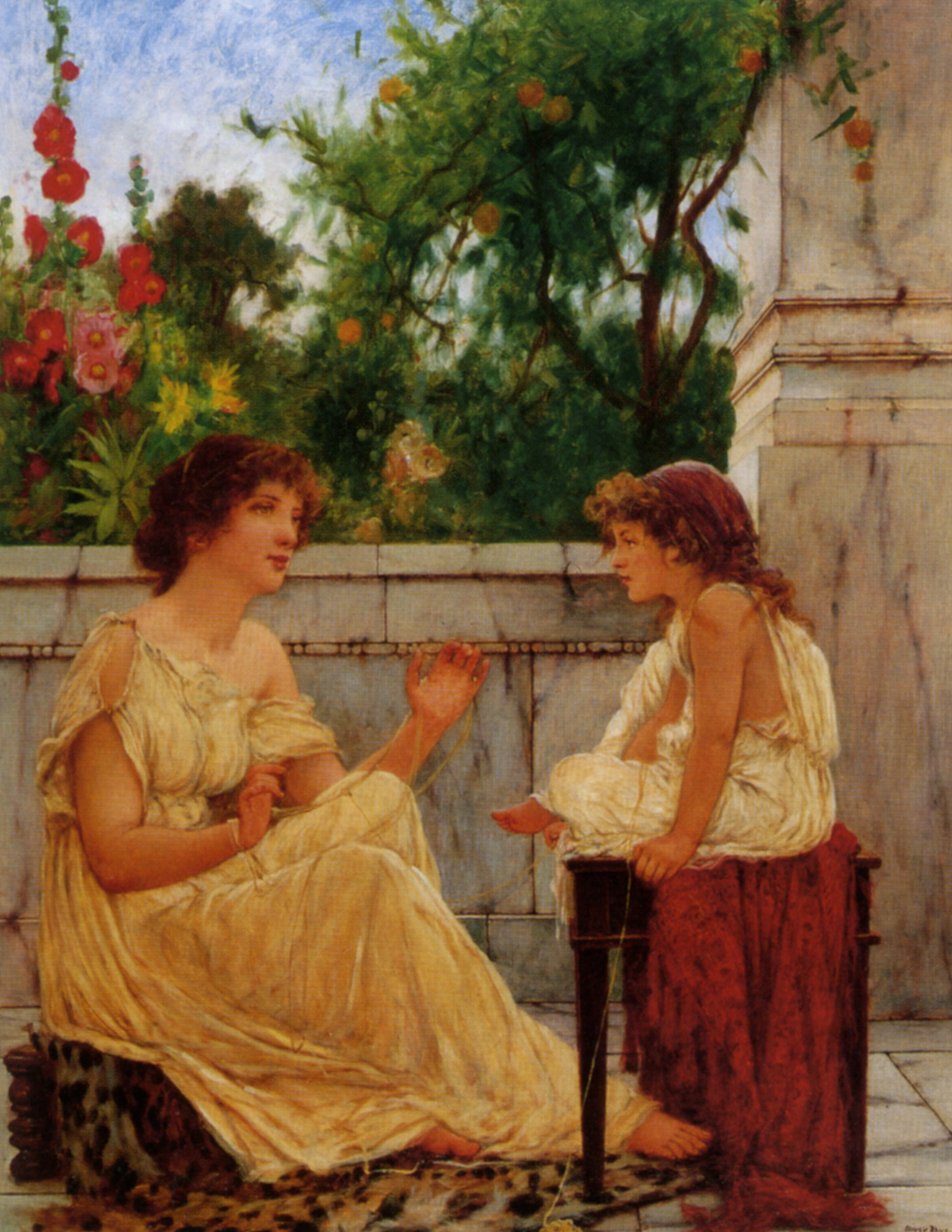 Ancient Pastimes :: Oliver Rhys - Antique beauties in art and painting ôîòî