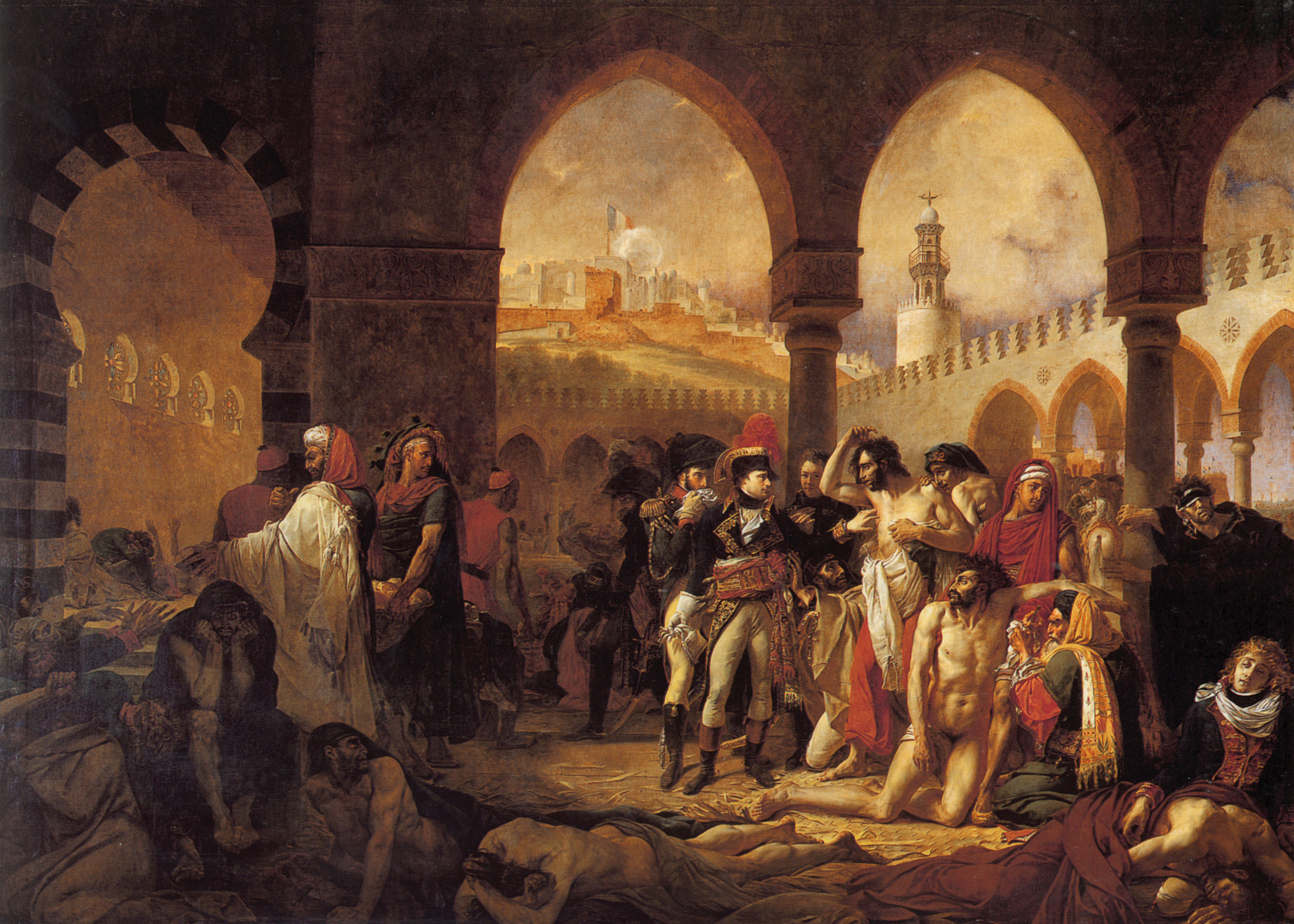 Bonaparte Visiting the Pesthouse in Jaffa, March 11, 1799 :: Antoine-Jean Gros - History painting ôîòî